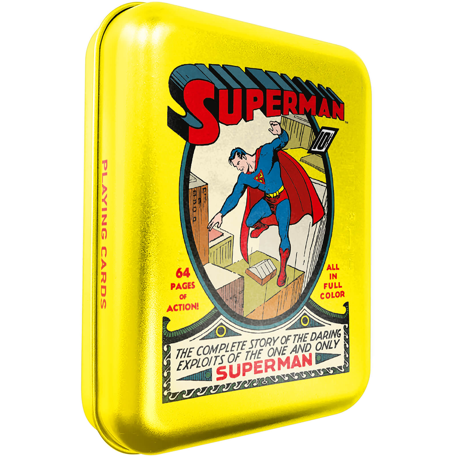 Image of DC Superman Collector Playing Cards & Tin in Yellow