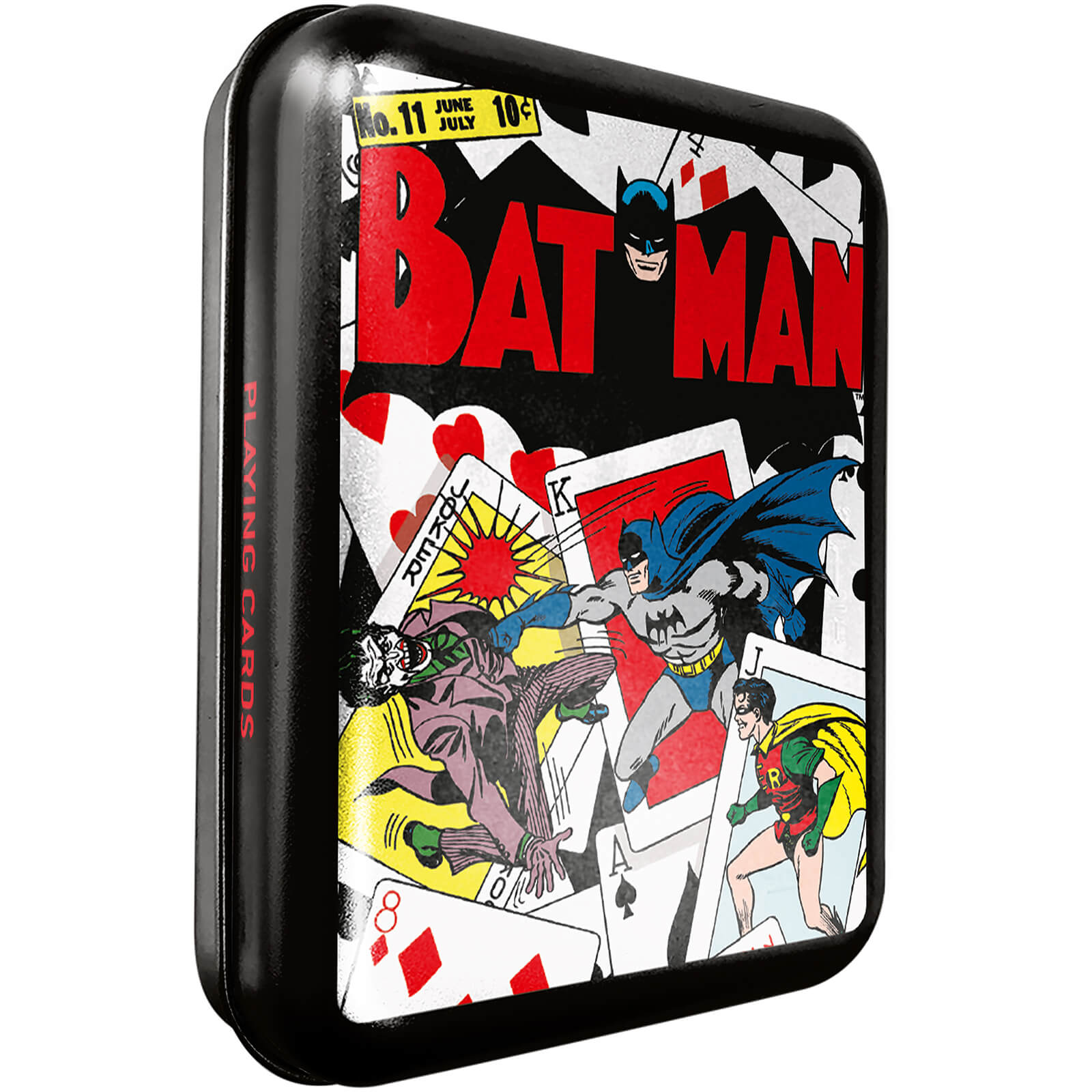 Image of DC Batman Collector Playing Cards & Tin in Black