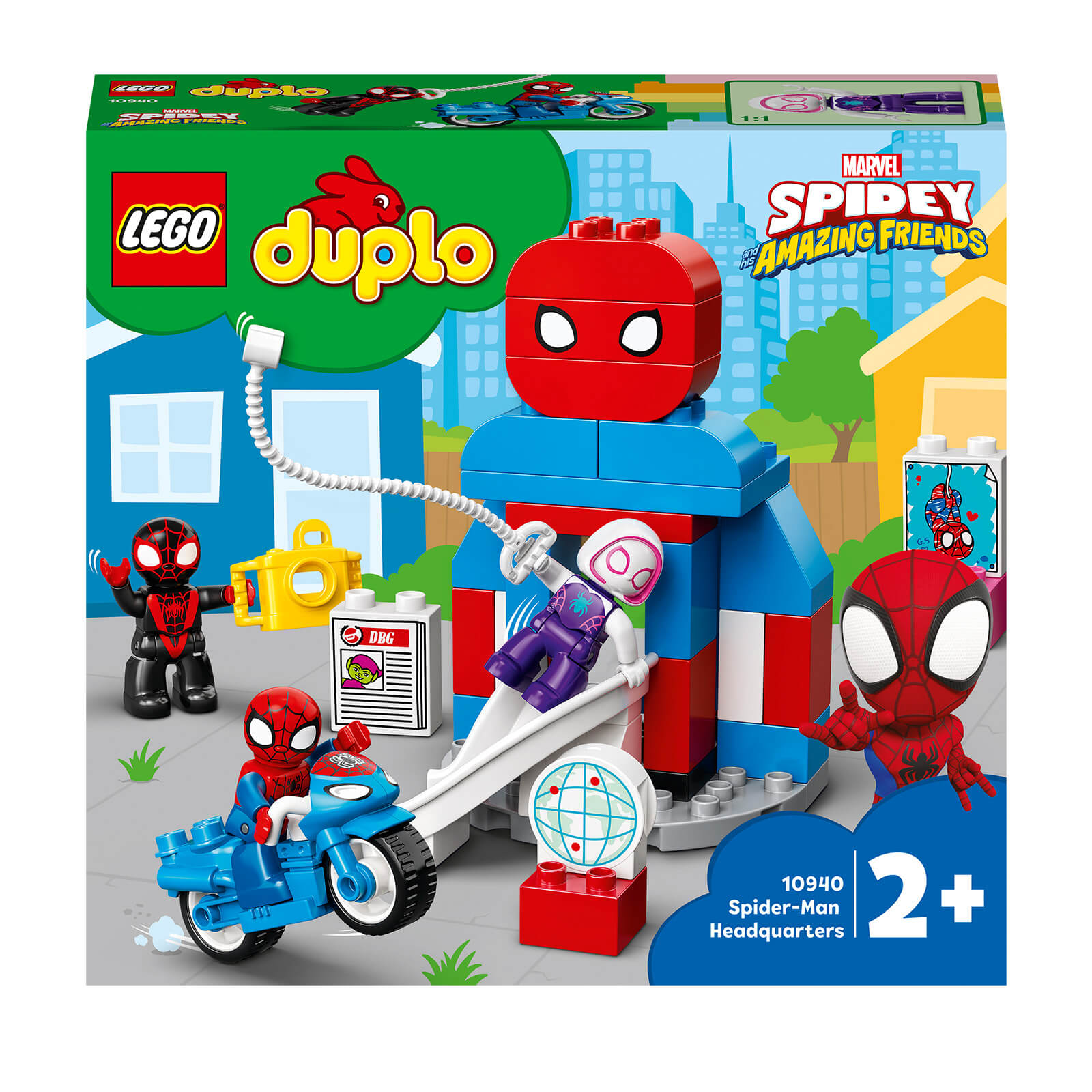 LEGO DUPLO Super Heroes Spider Man Headquarters Toy For Toddlers (10940)