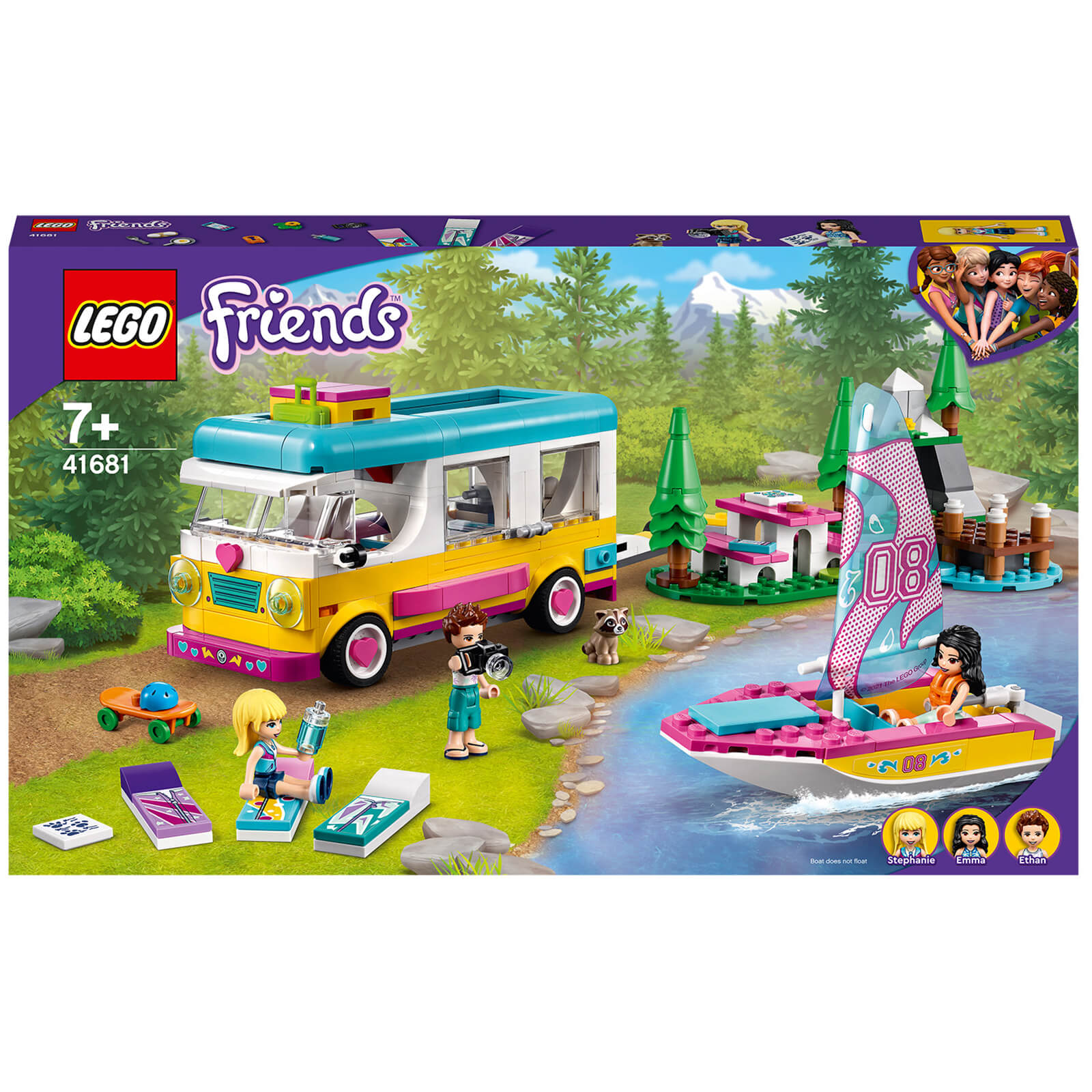 LEGO Friends Forest Camper Van And Sailboat Set (41681)