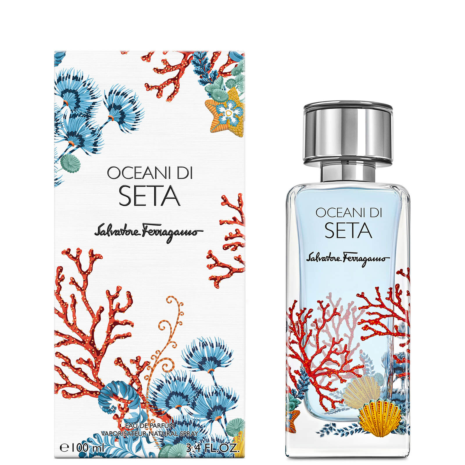 Image of Eau de Parfum Storie Oceane Di Seta Salvatore Ferragamo 100ml