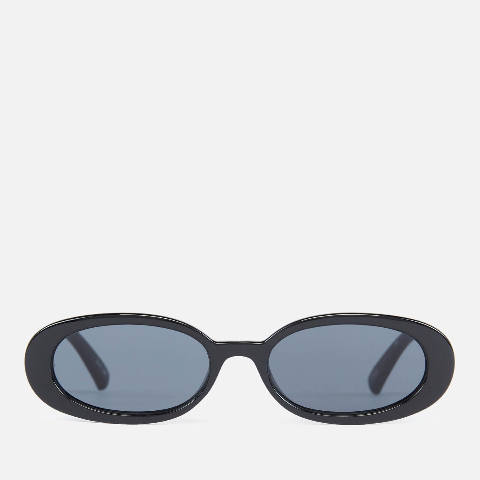 Le Specs Women's More Joy Oval Sunglasses - Black