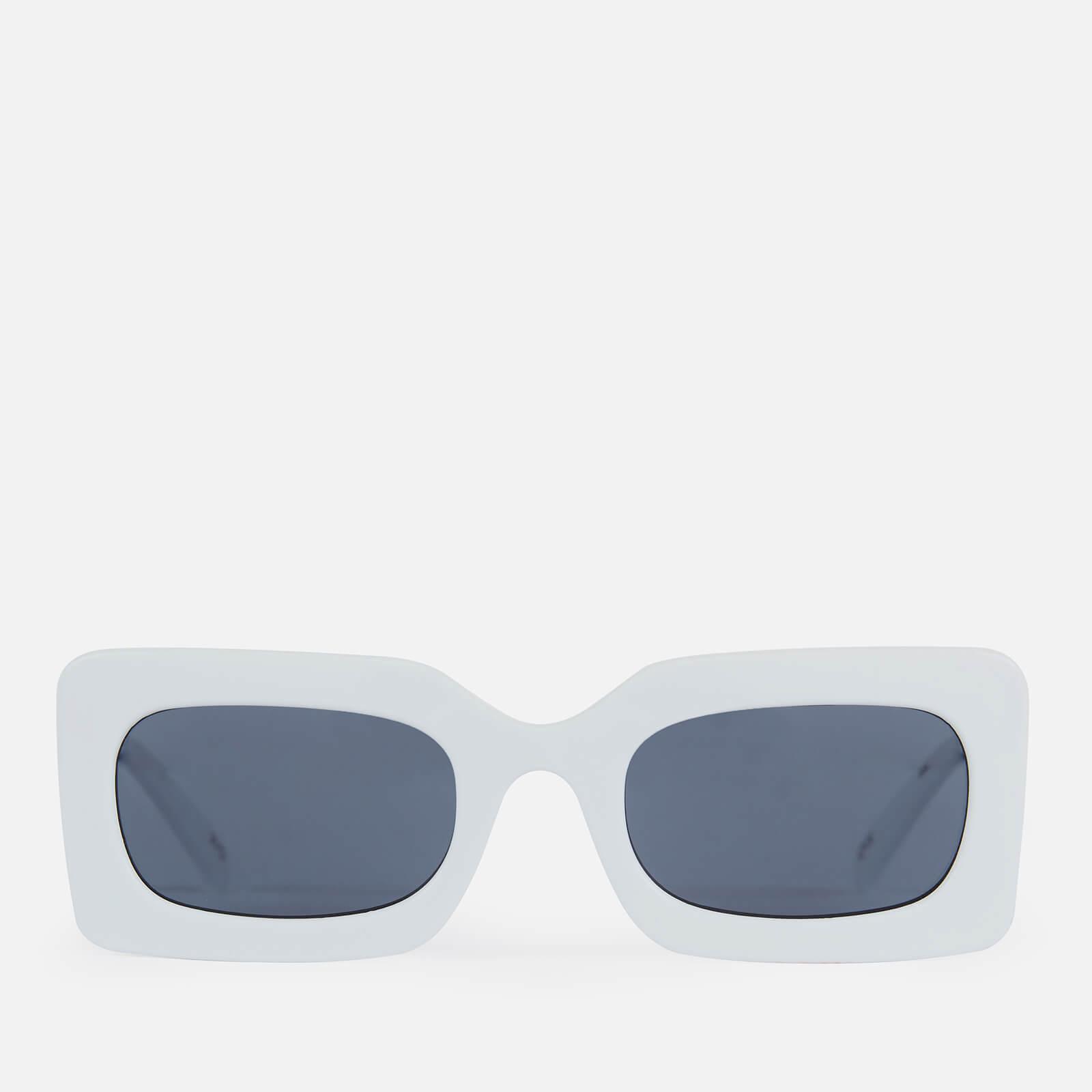 Le Specs Women's Sex Square Sunglasses - White