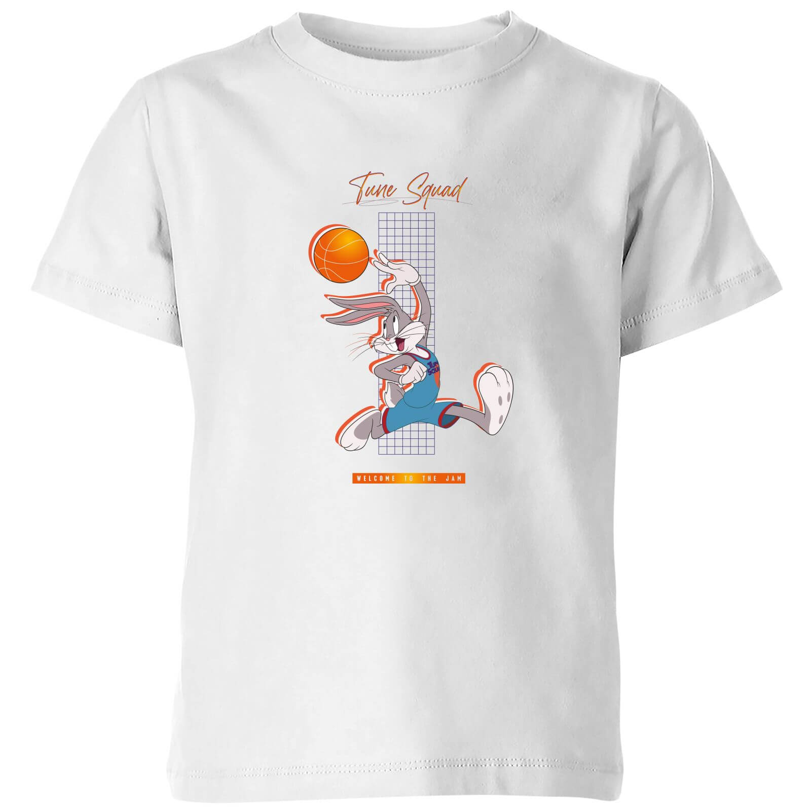 Space Jam Bugs Bunny Basketball Kids' T-Shirt - White - 9-10 Years