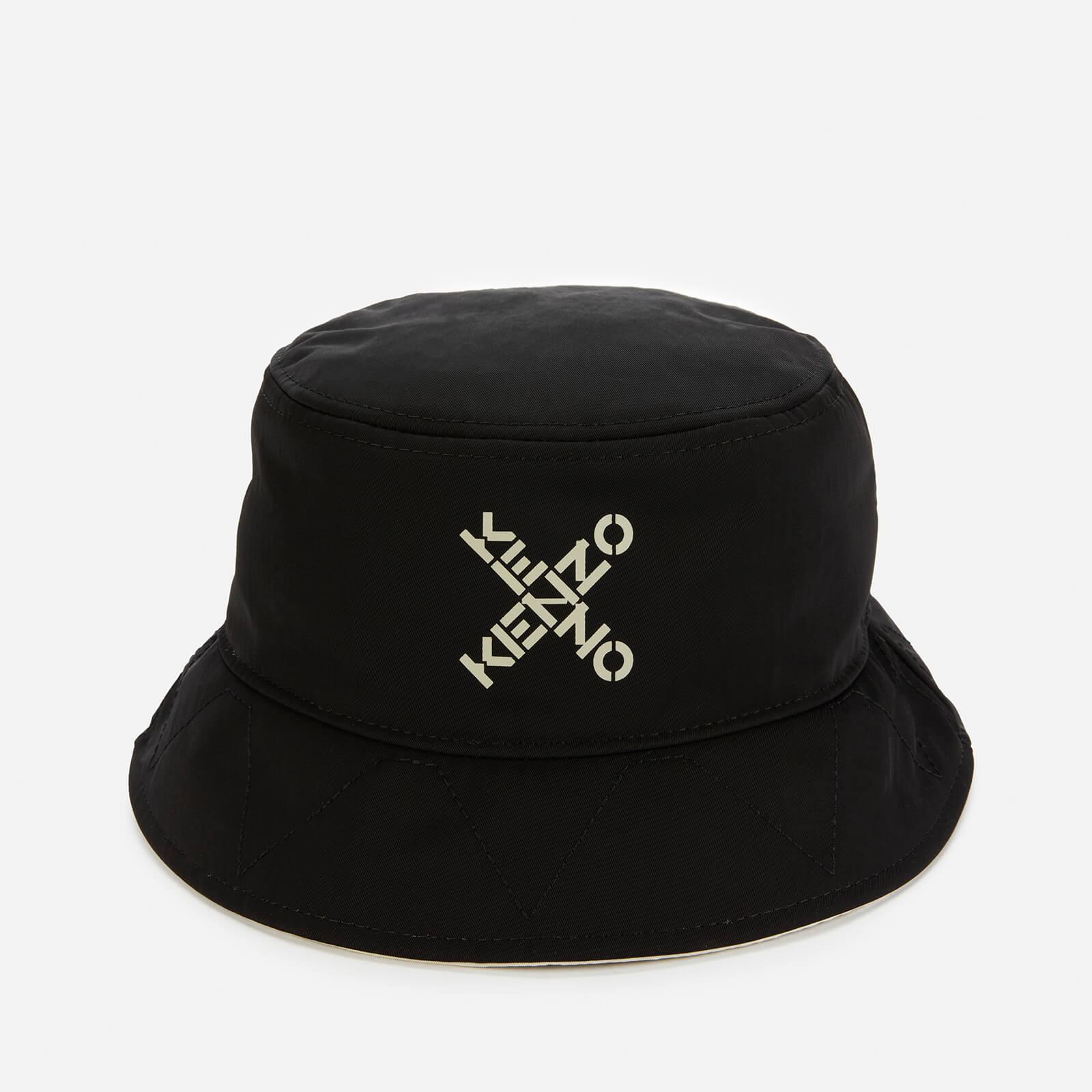 KENZO Men's Sport Nylon Reversible Bucket Hat - Black