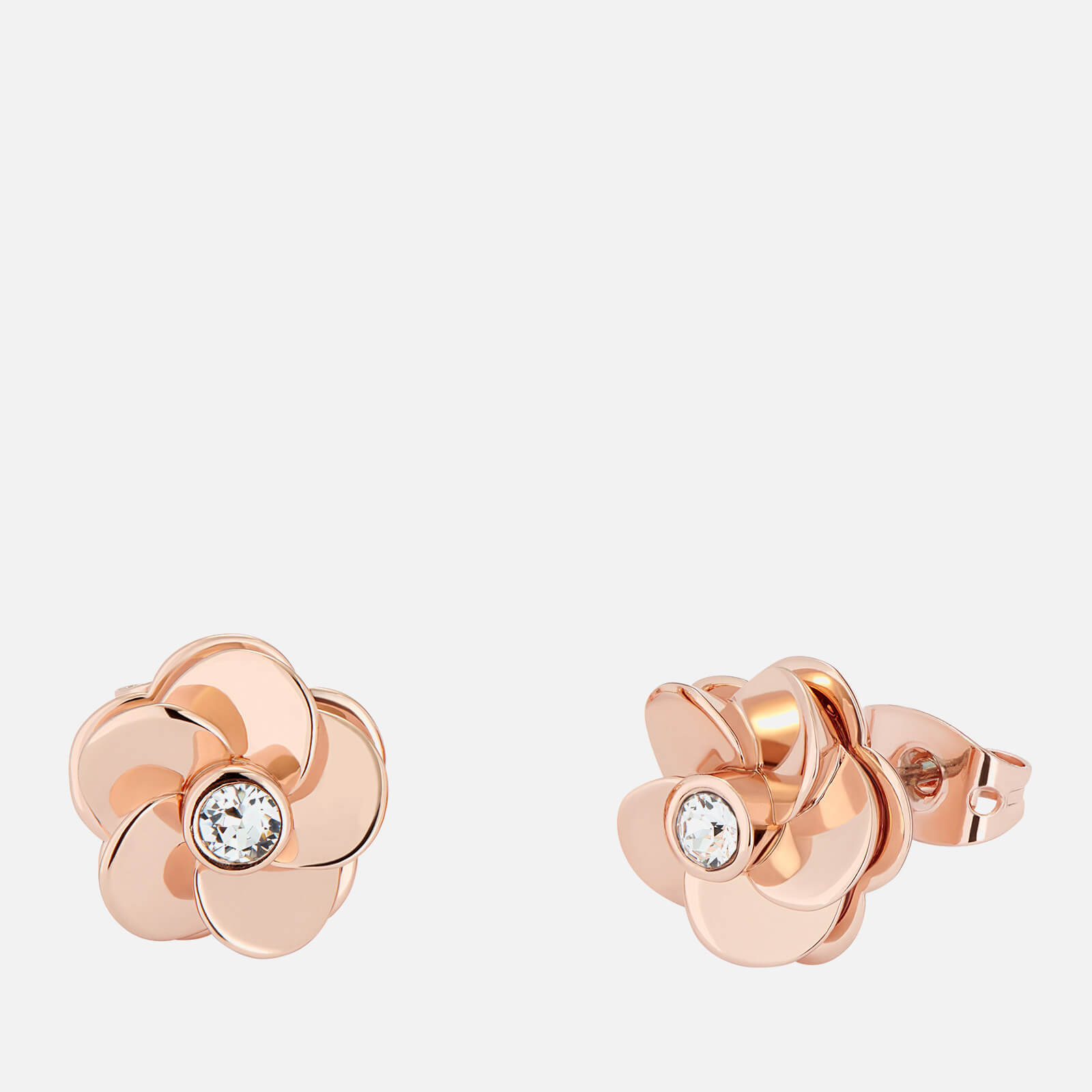 Ted Baker Women's Pelipa: Flower Stud Earring - Rose Gold Tone/Clear Crystal