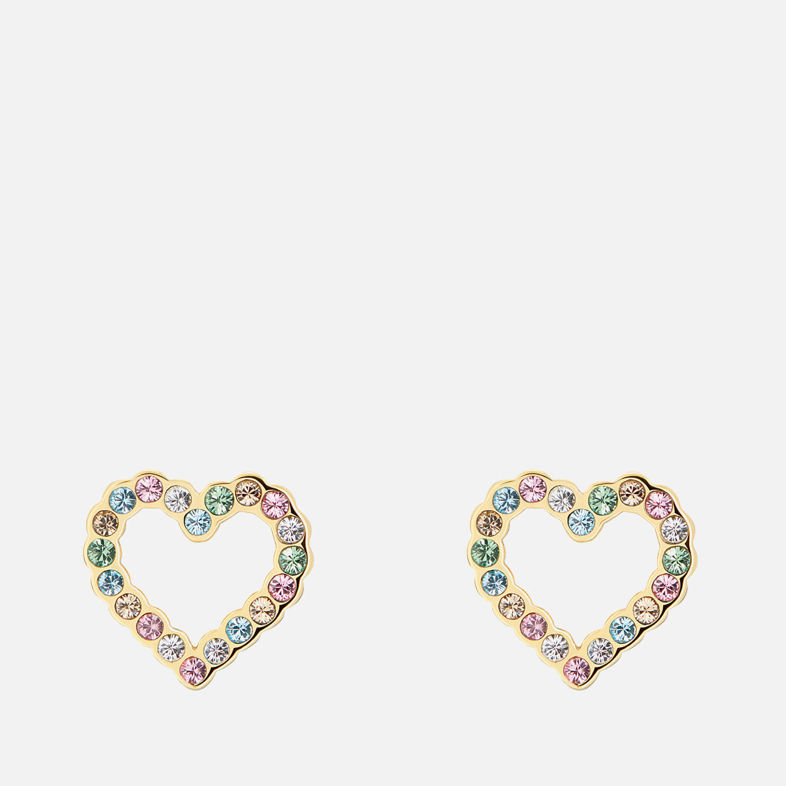 Ted Baker Women's Leenah: Crystal Heart Earring - Gold Tone/Pastel Multi