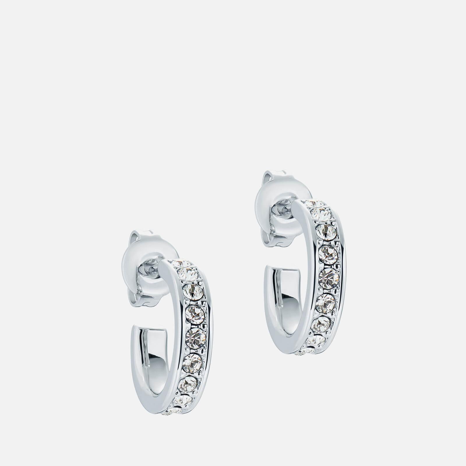 Ted Baker Women's Seenita: Nano Hoop Earring - Silver Tone/Clear Crystal