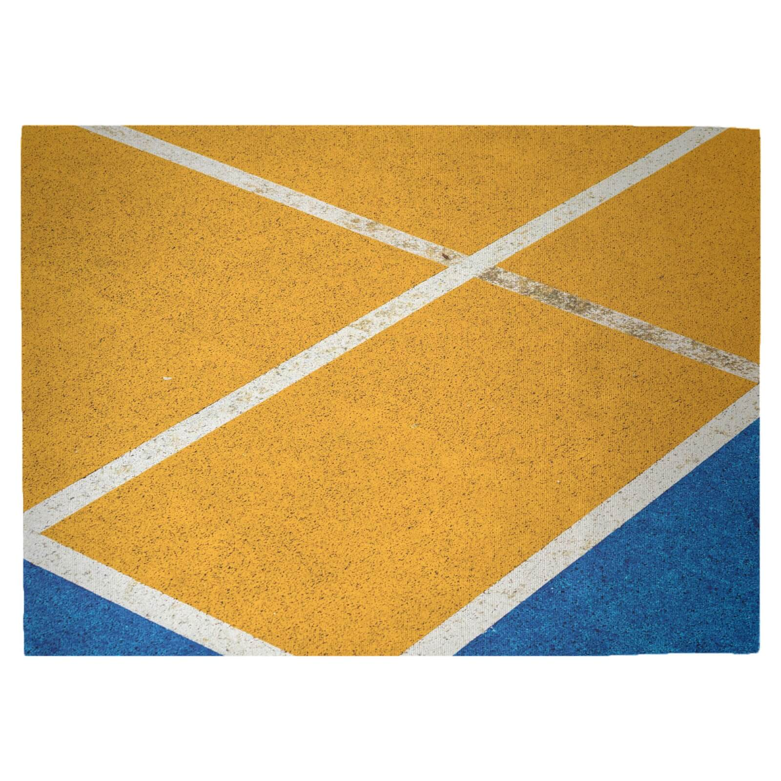 Contrast Pitch Woven Rug - Large