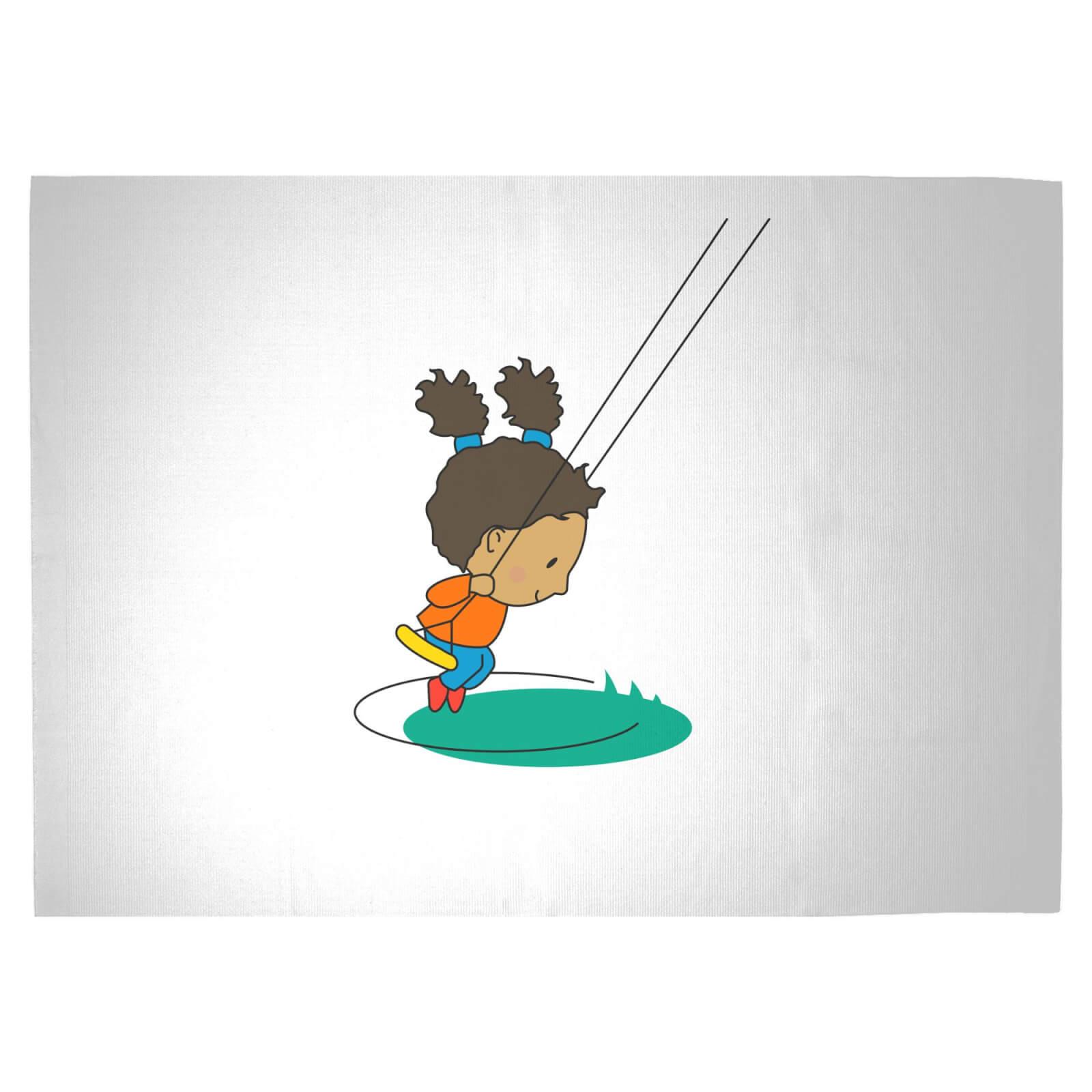 Swing Girl Woven Rug   Large