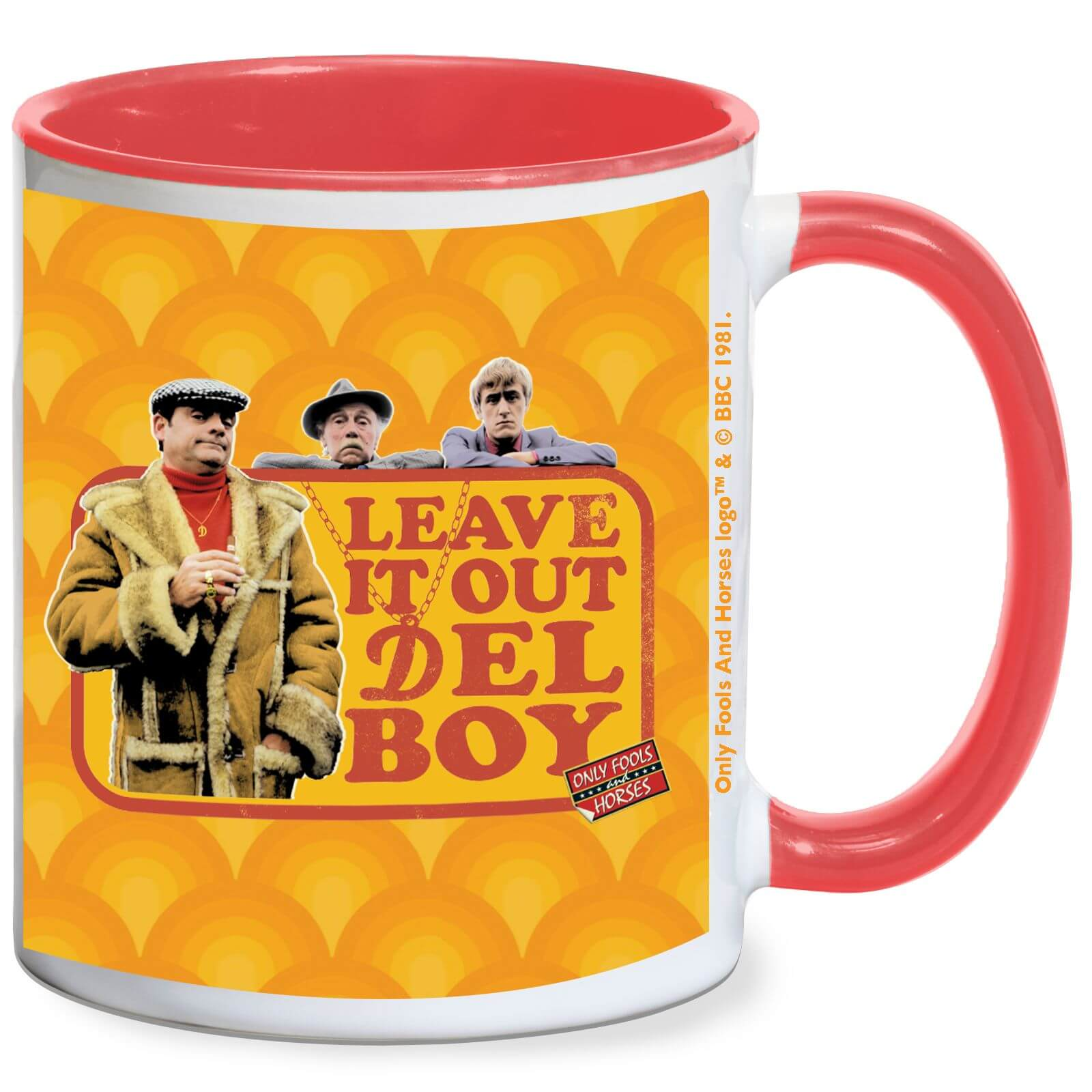 Only Fools And Horses Leave It Out Del Roy Mug White Red