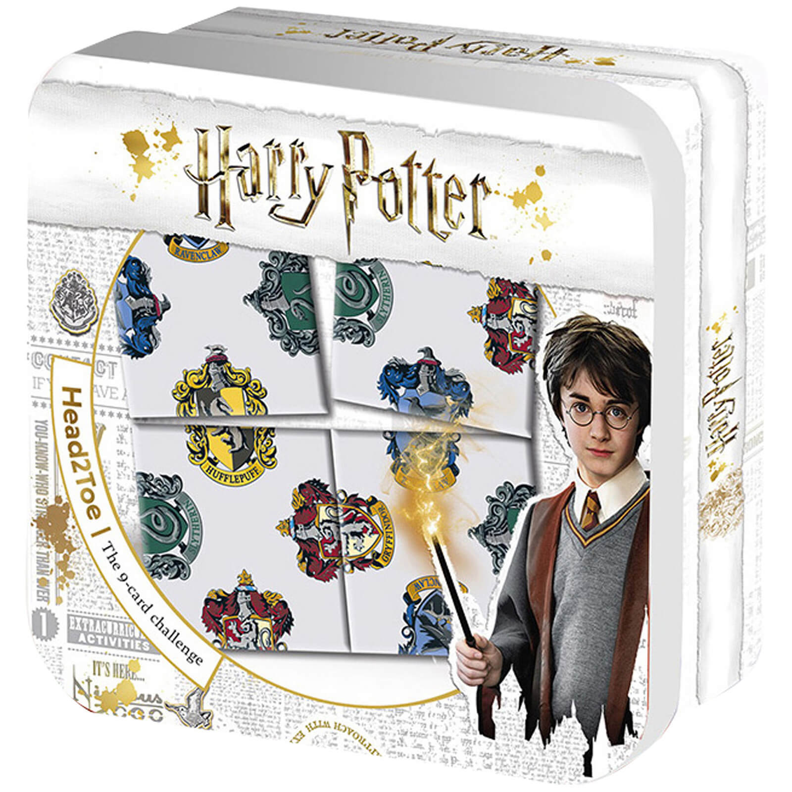 Image of Harry Potter House Symbols Top 2 Toe Ultimate 9 Card Puzzle Challenge