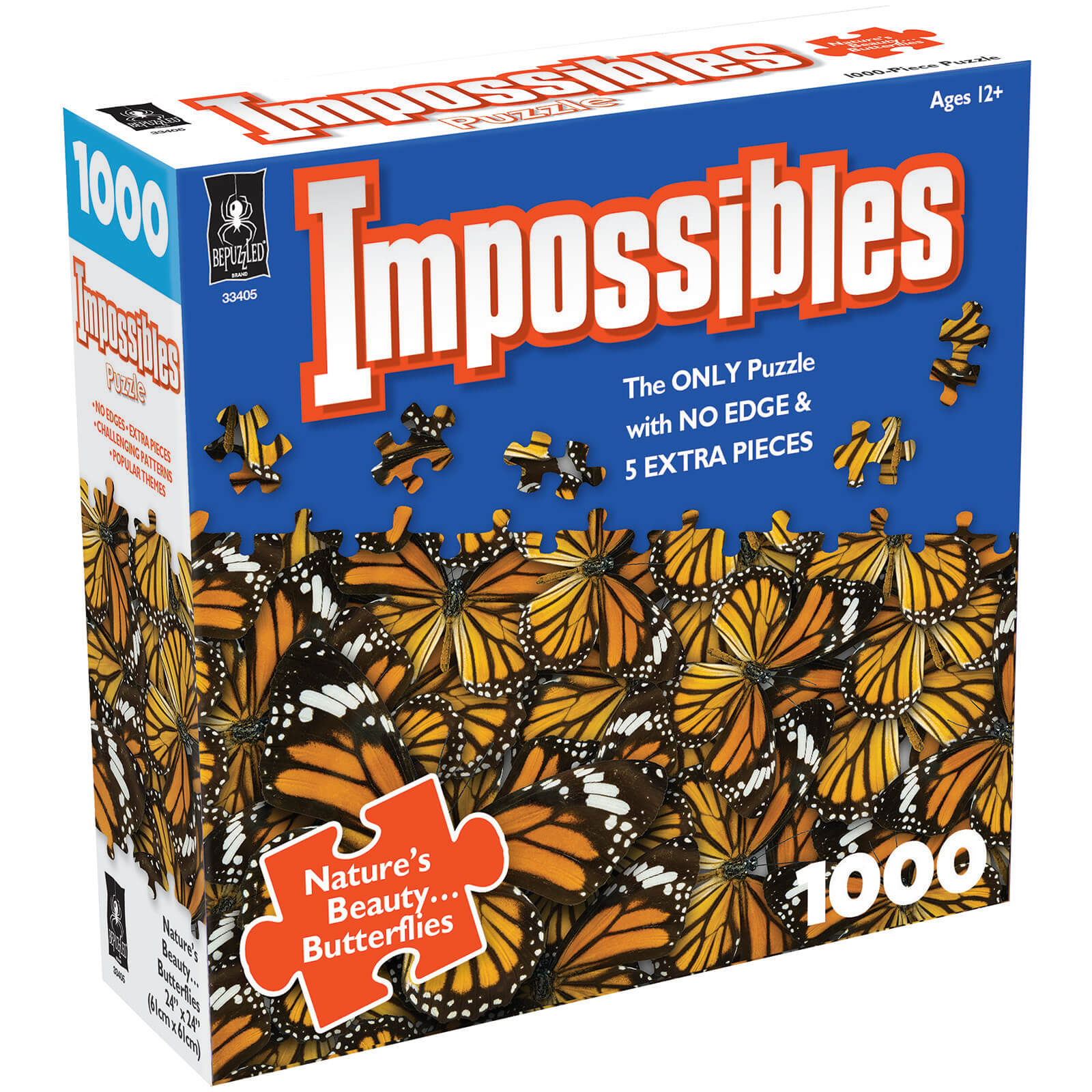 Image of Impossible Puzzles - Butterfly Kisses Jigsaw Puzzle