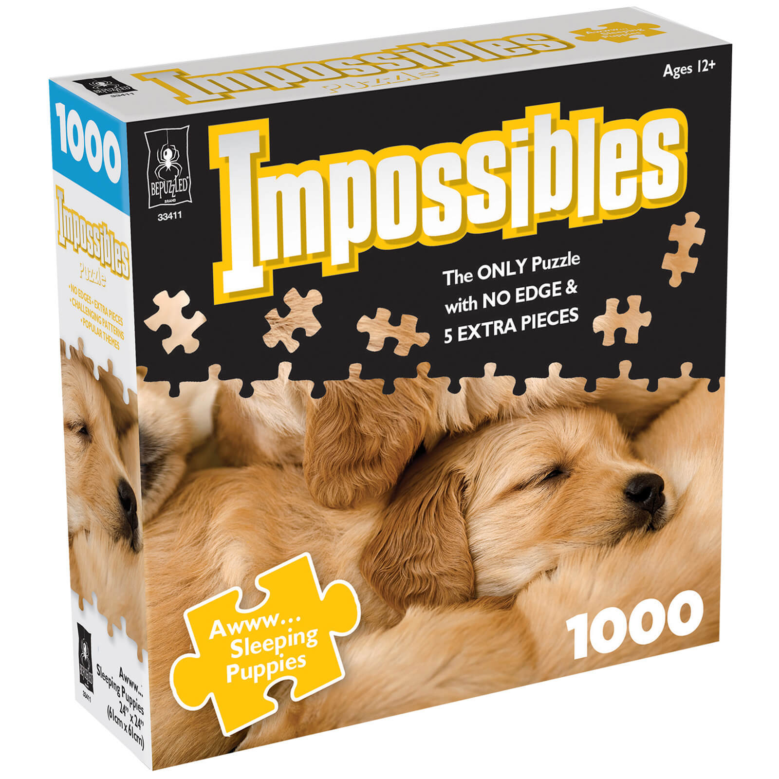 Image of Impossible Puzzles - Sleeping Puppies Jigsaw Puzzle
