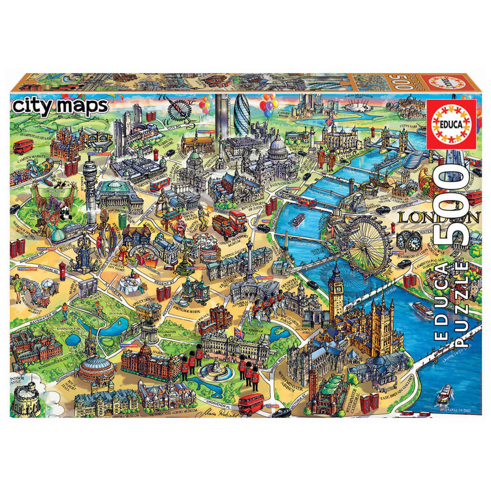 Image of London City Map Jigsaw Puzzle (500 Pieces)