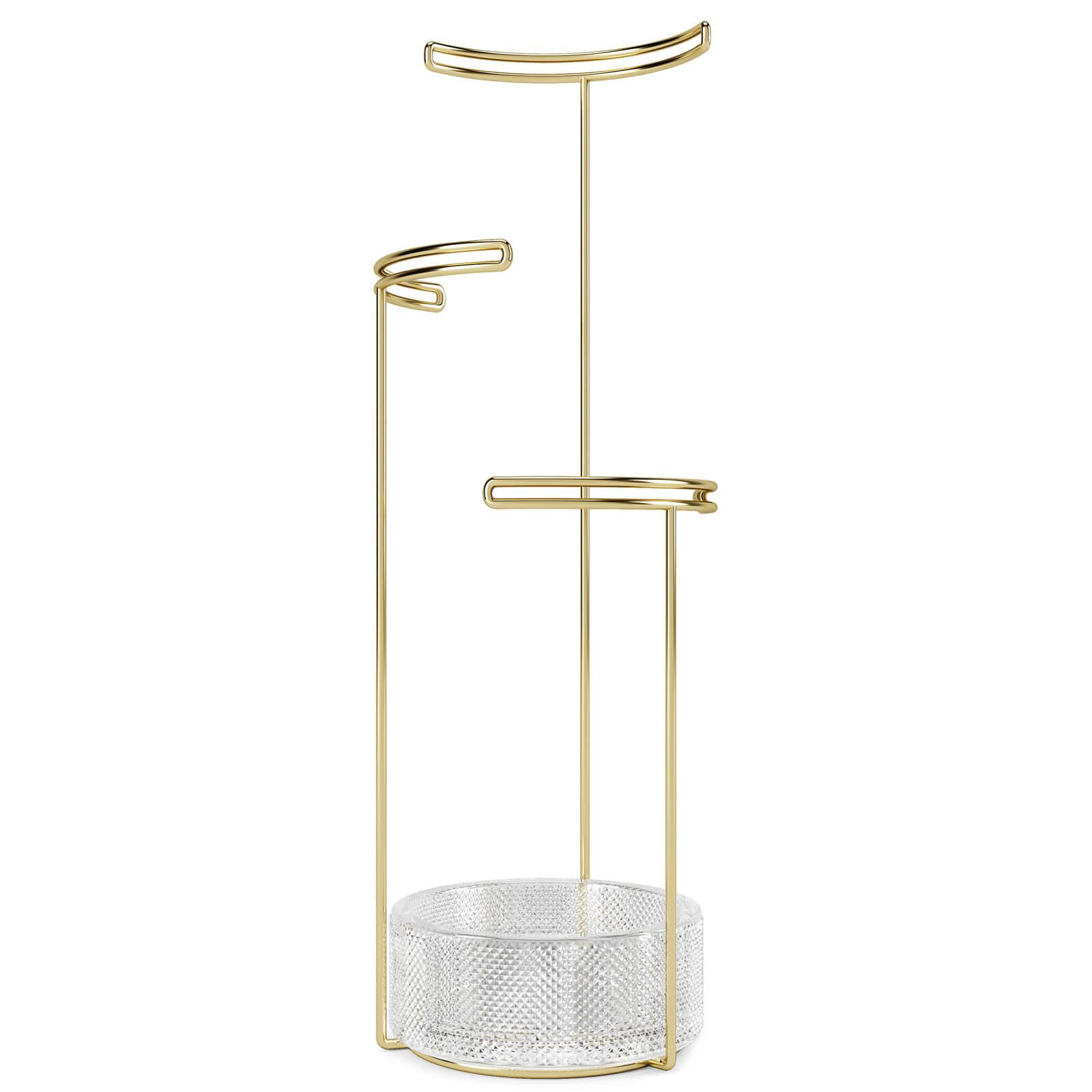 Umbra Tesora Jewellery Stand - Brass