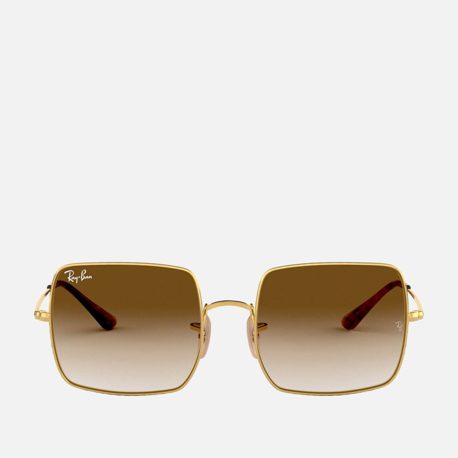 Ray-Ban Women's Square Oversized Metal Sunglasses - Gold