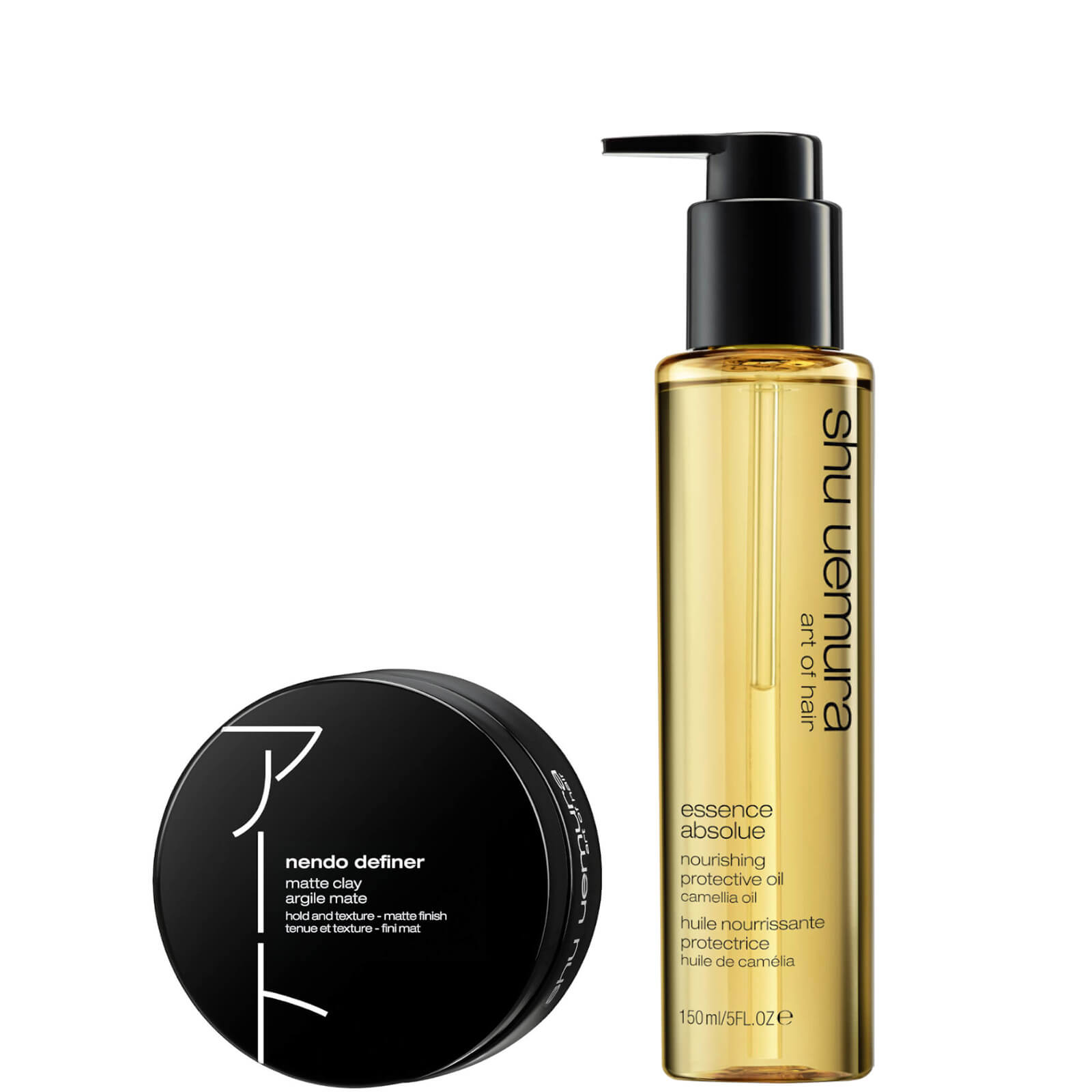 Shu Uemura Art of Hair Nendo Definer and Essence Absolue Oil Styling Duo