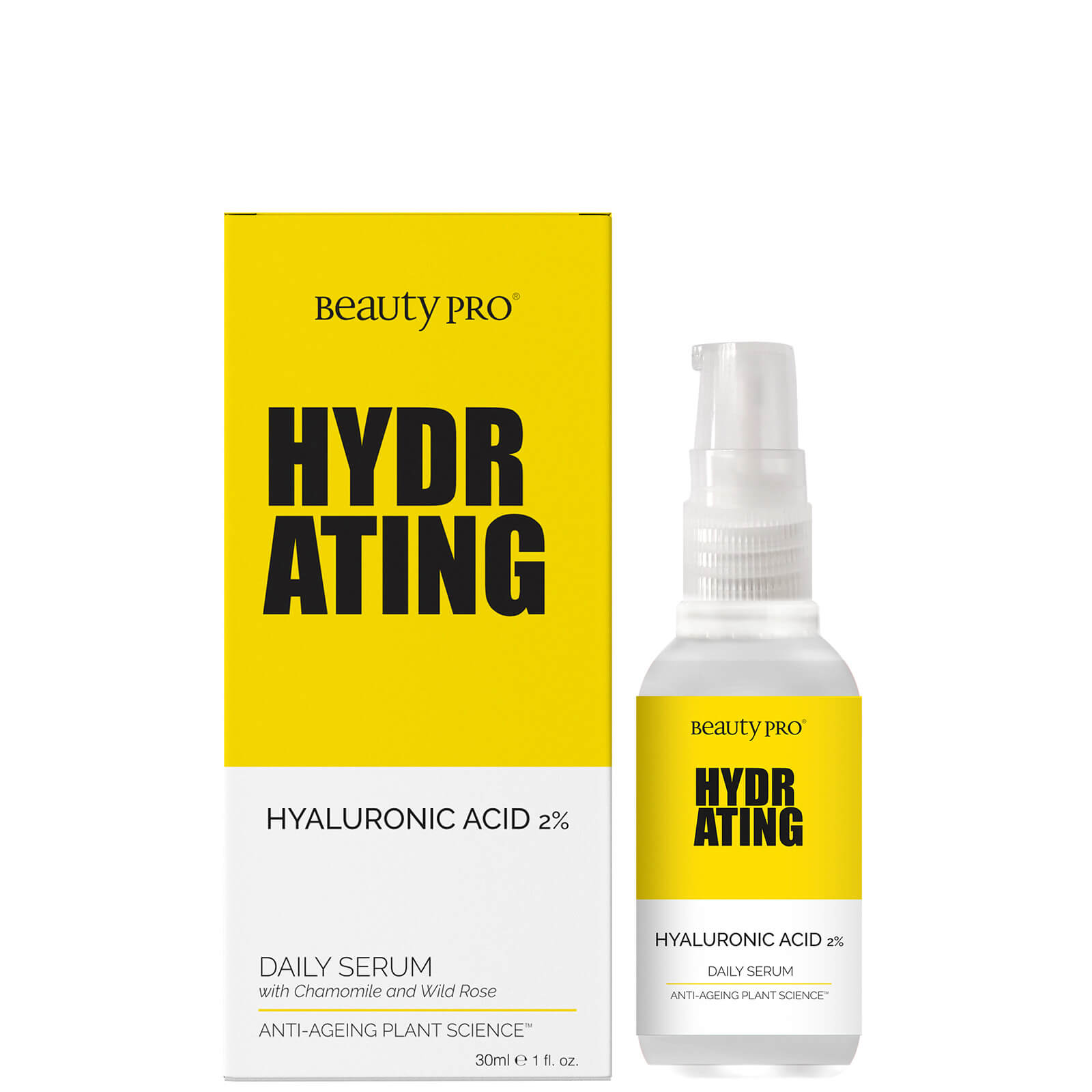 Купить BeautyPro Hydrating 1% Hyaluronic Acid Daily Serum 30ml