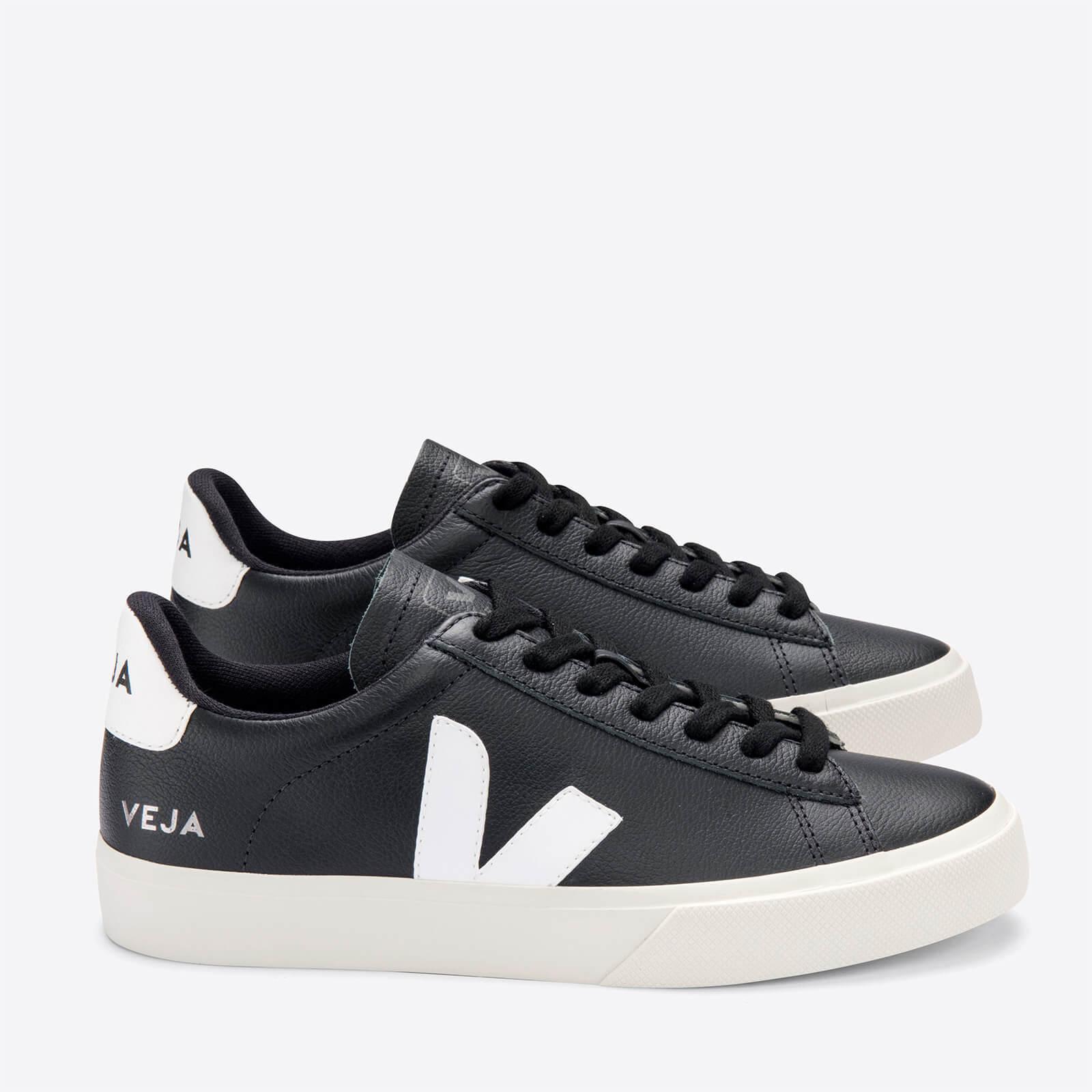 Veja Men's Campo Chrome Free Leather Trainers - Black/White - UK 9