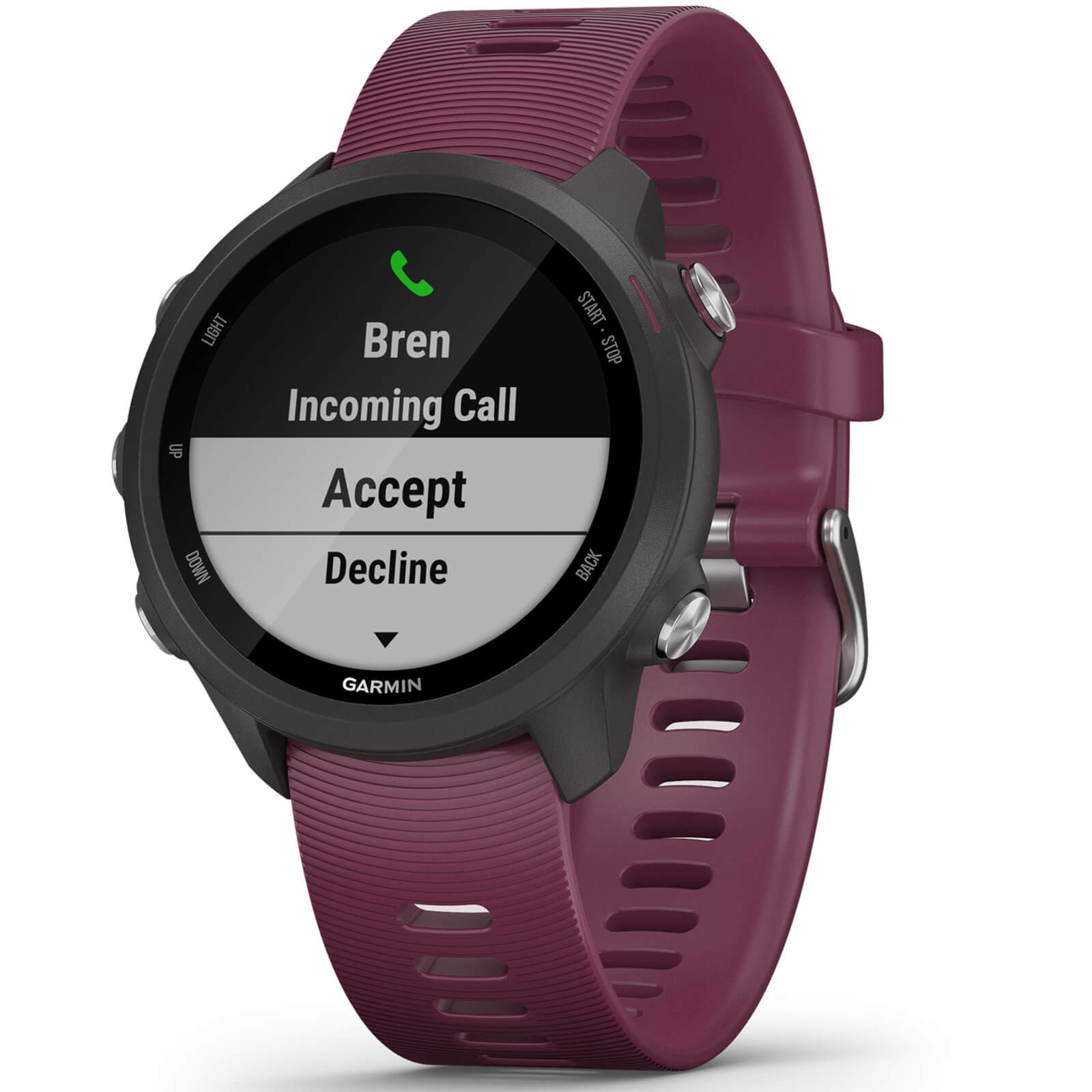 Garmin Forerunner 245 Running Watch - Black/Berry