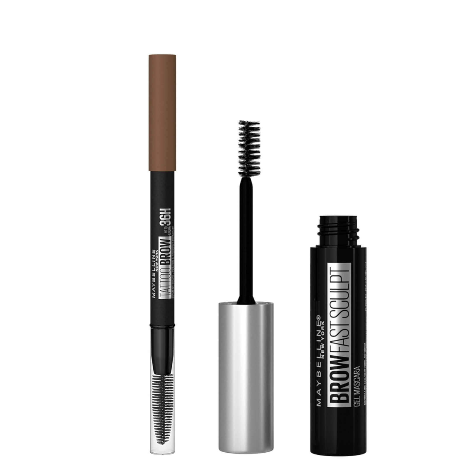 Maybelline Fill and Set Brow Bundle (Various Shades) - Soft Brown 03