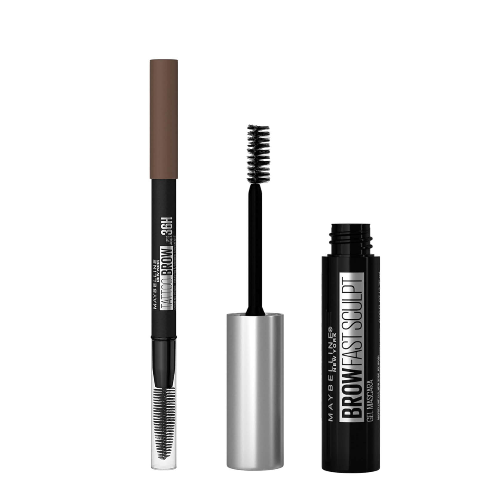Maybelline Fill and Set Brow Bundle (Various Shades) - Medium Brown 05