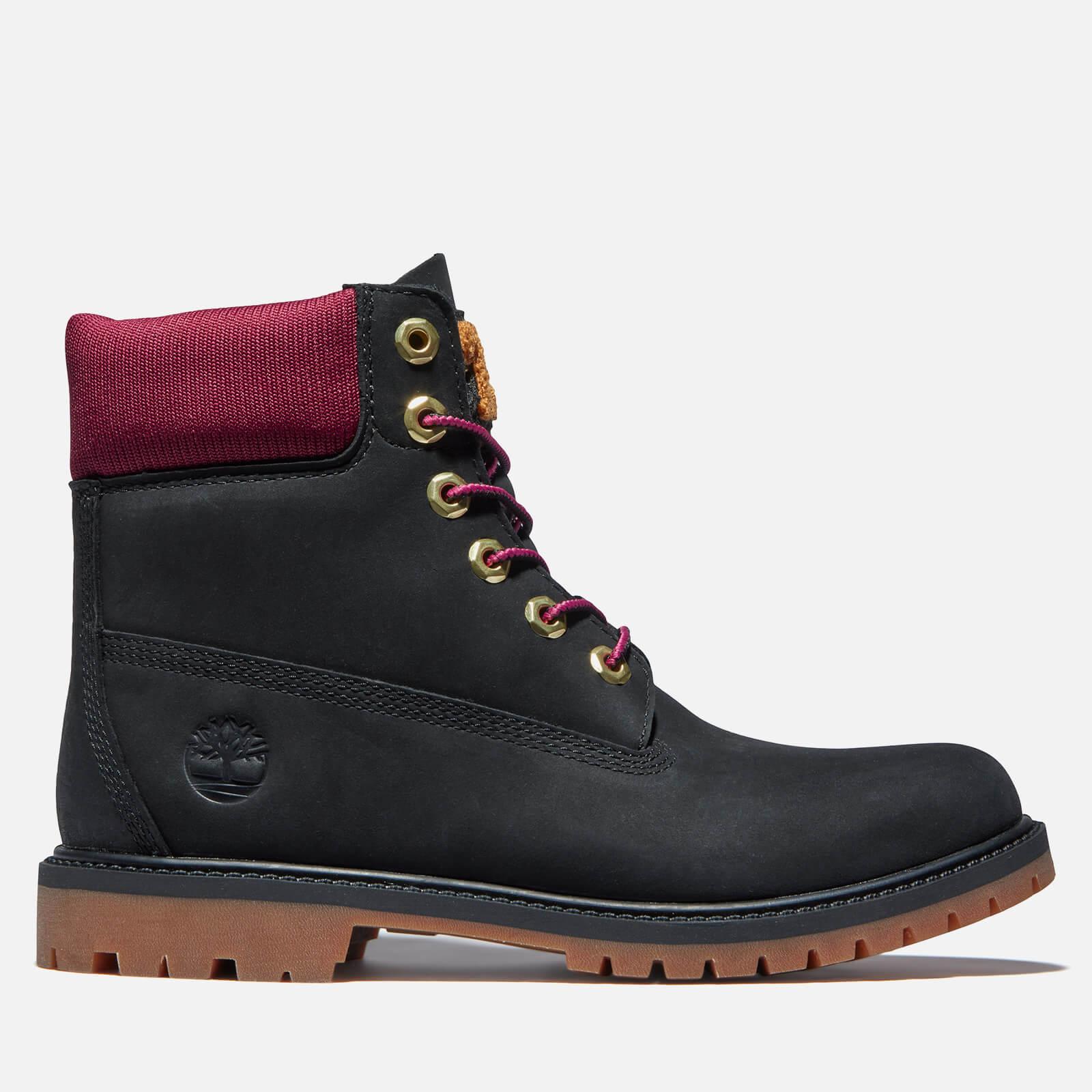 Timberland Women's 6 Inch Heritage Letterman Waterproof Boots - Black - UK 3
