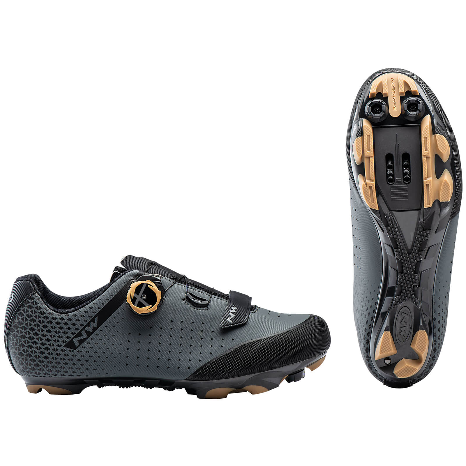 Northwave Origin Plus 2 MTB Shoes - EU40 - Antra/Honey