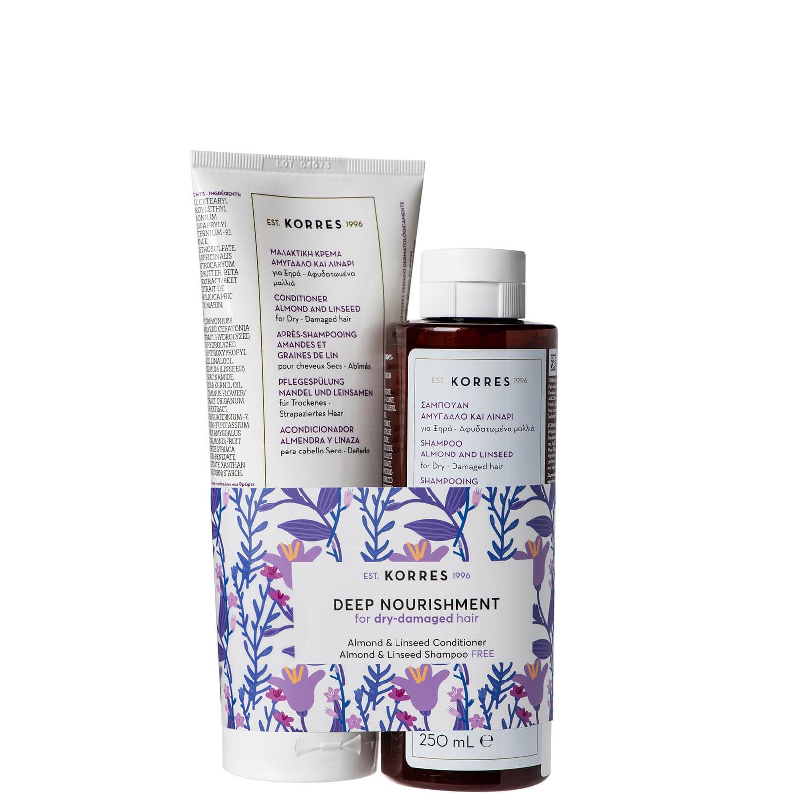 Купить KORRES Almond & Linseed Kit Conditioner and Shampoo Duo