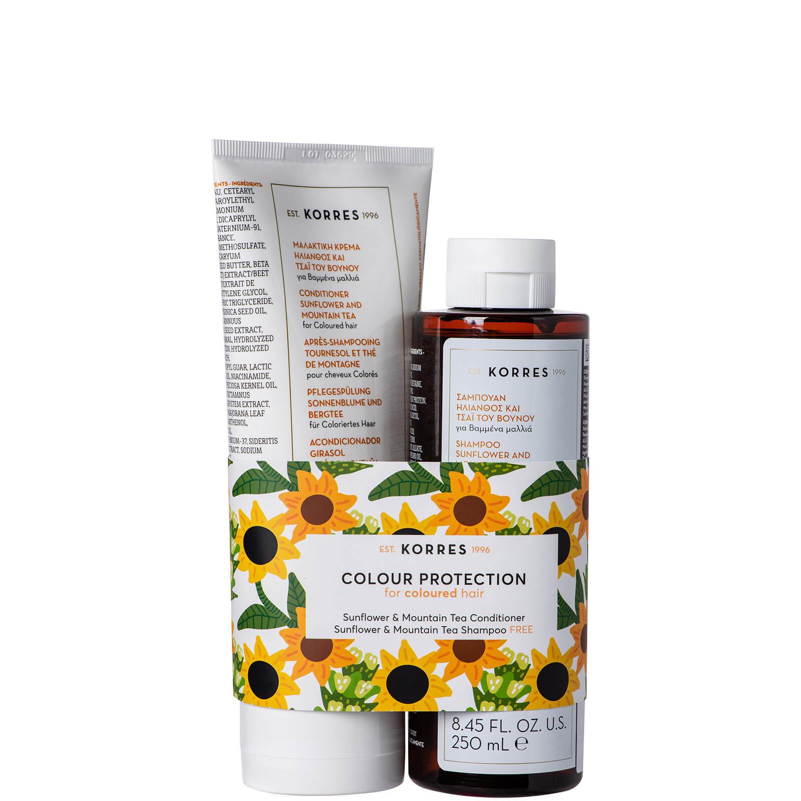 Купить KORRES Sunflower & Mountain Tea Kit Conditioner and Shampoo Duo