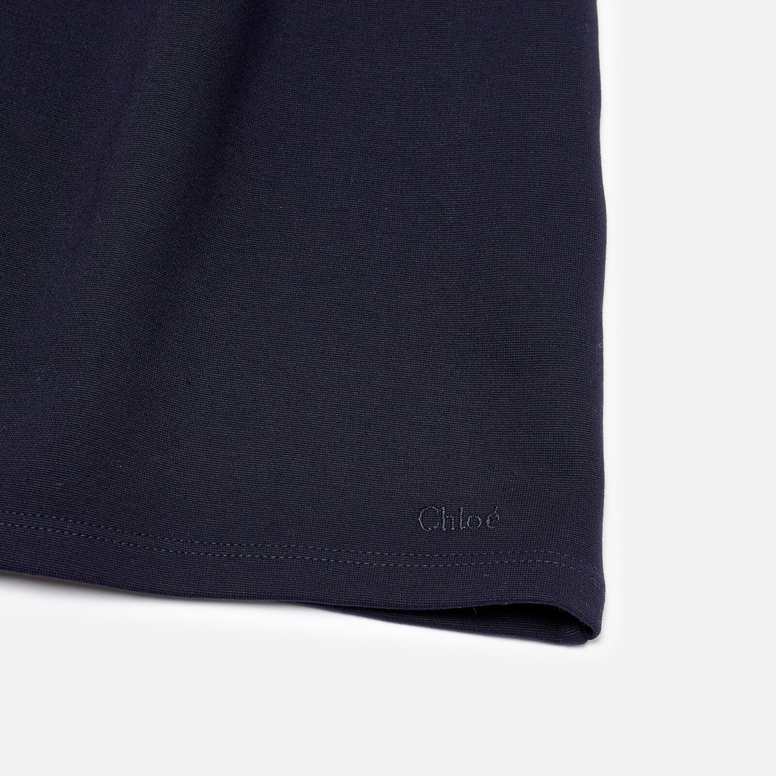 Chloé Girls' Smock Dress - Navy - 14 Years Blue C12843/859 Dresses Childrens Clothing, Blue
