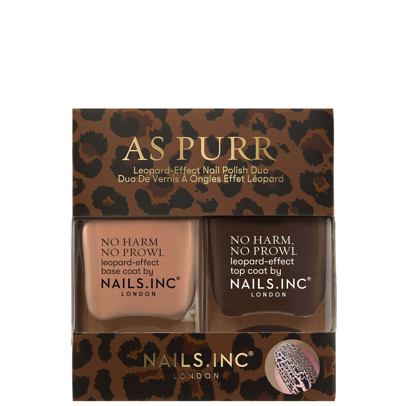Купить Nails inc. As Purr Leopard Duo