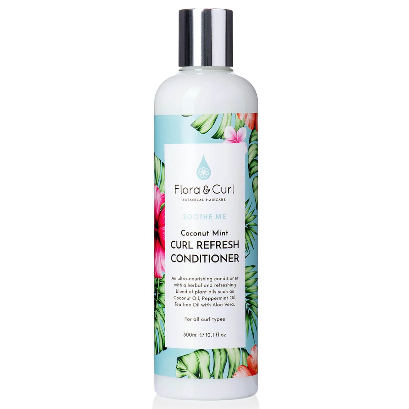 Flora & Curl Coconut Mint Curl Refresh Conditioner 300ml  - Купить