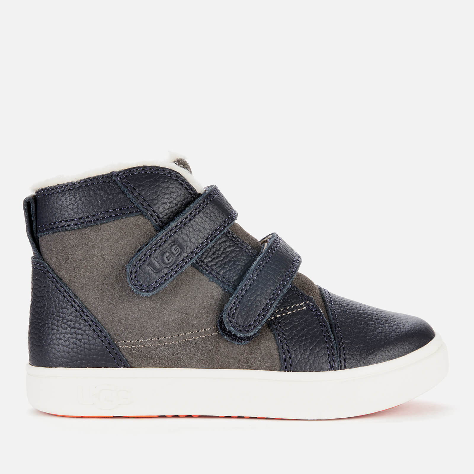 UGG Toddlers' RENNON II Velcro High Top Trainers - Charcoal - UK 5 Toddler
