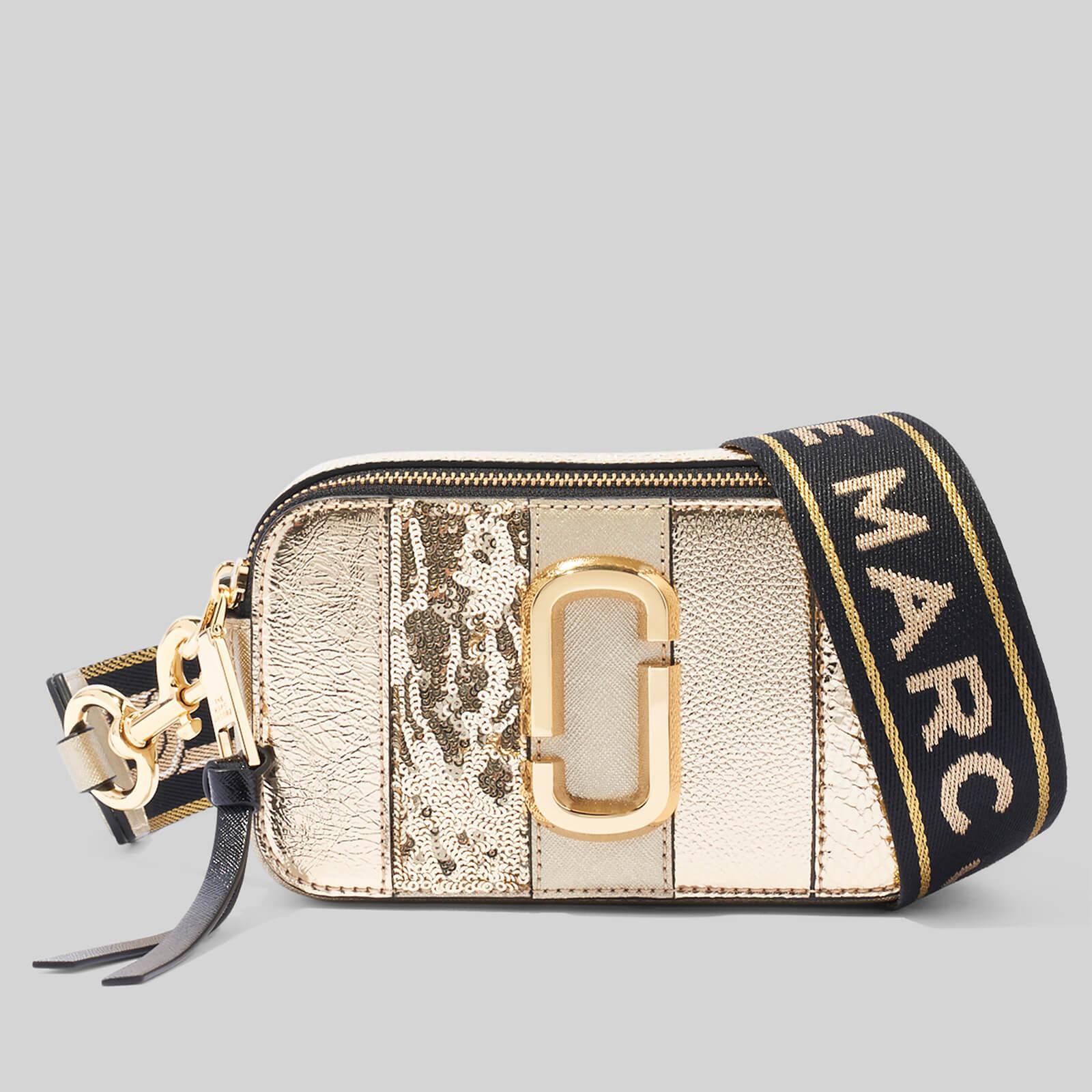 Marc Jacobs Women's Snapshot Metallic Stripe - Light Gold