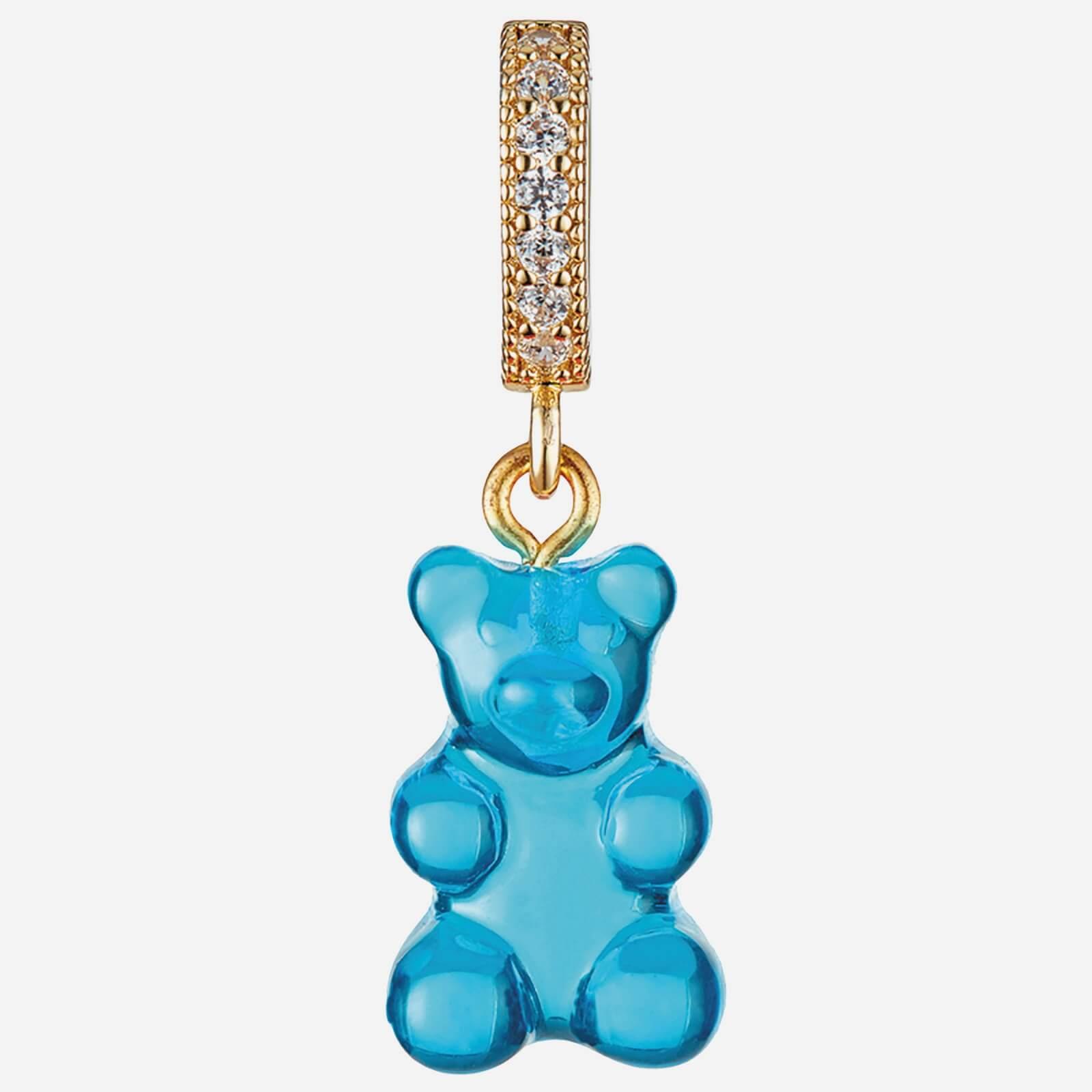 Crystal Haze Women's Jelly Nostalgia Bear Pave Pendant - Azure