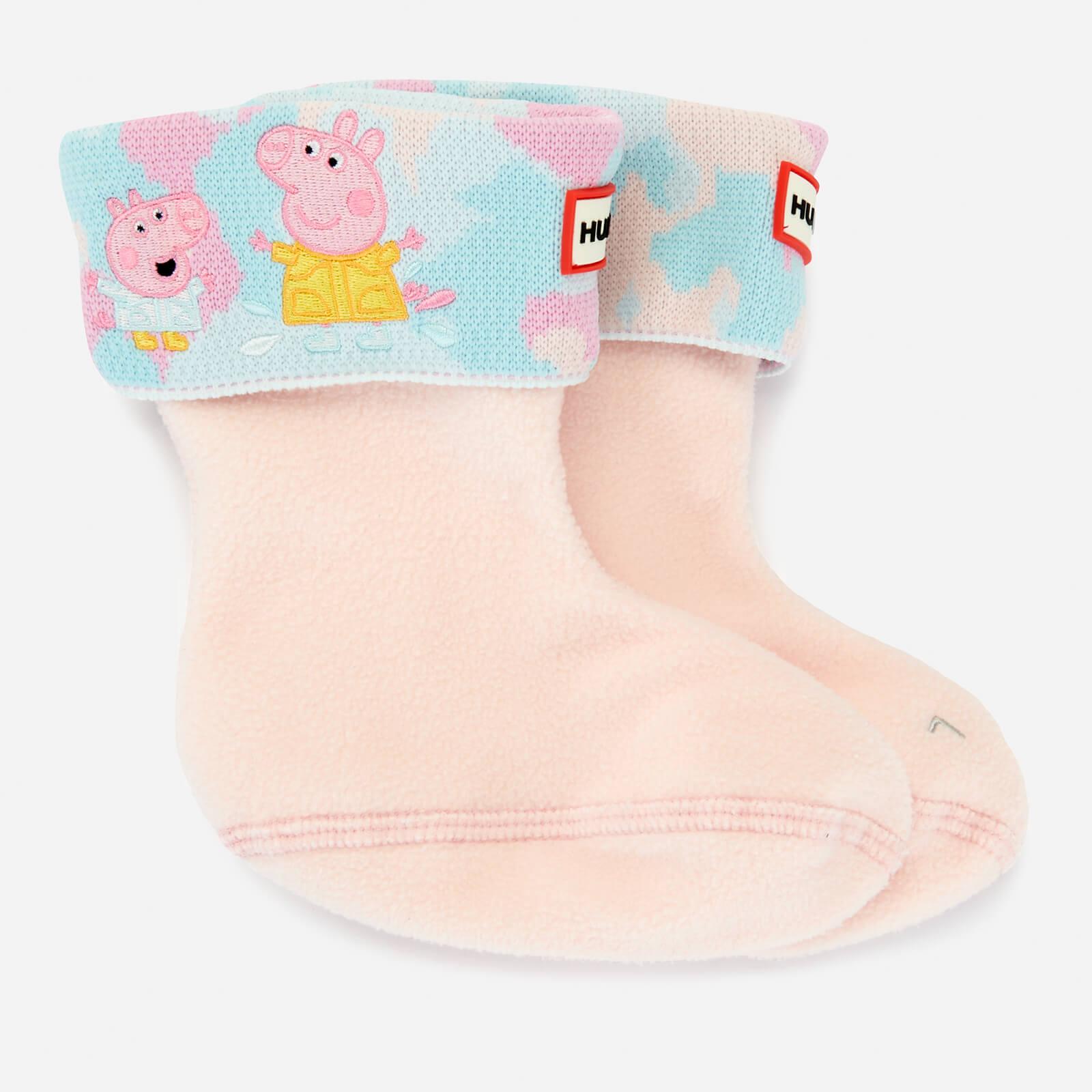 Hunter X Peppa Pig Kids' Boot Sock - Dragonfly Blue - UK 4-6 Kids