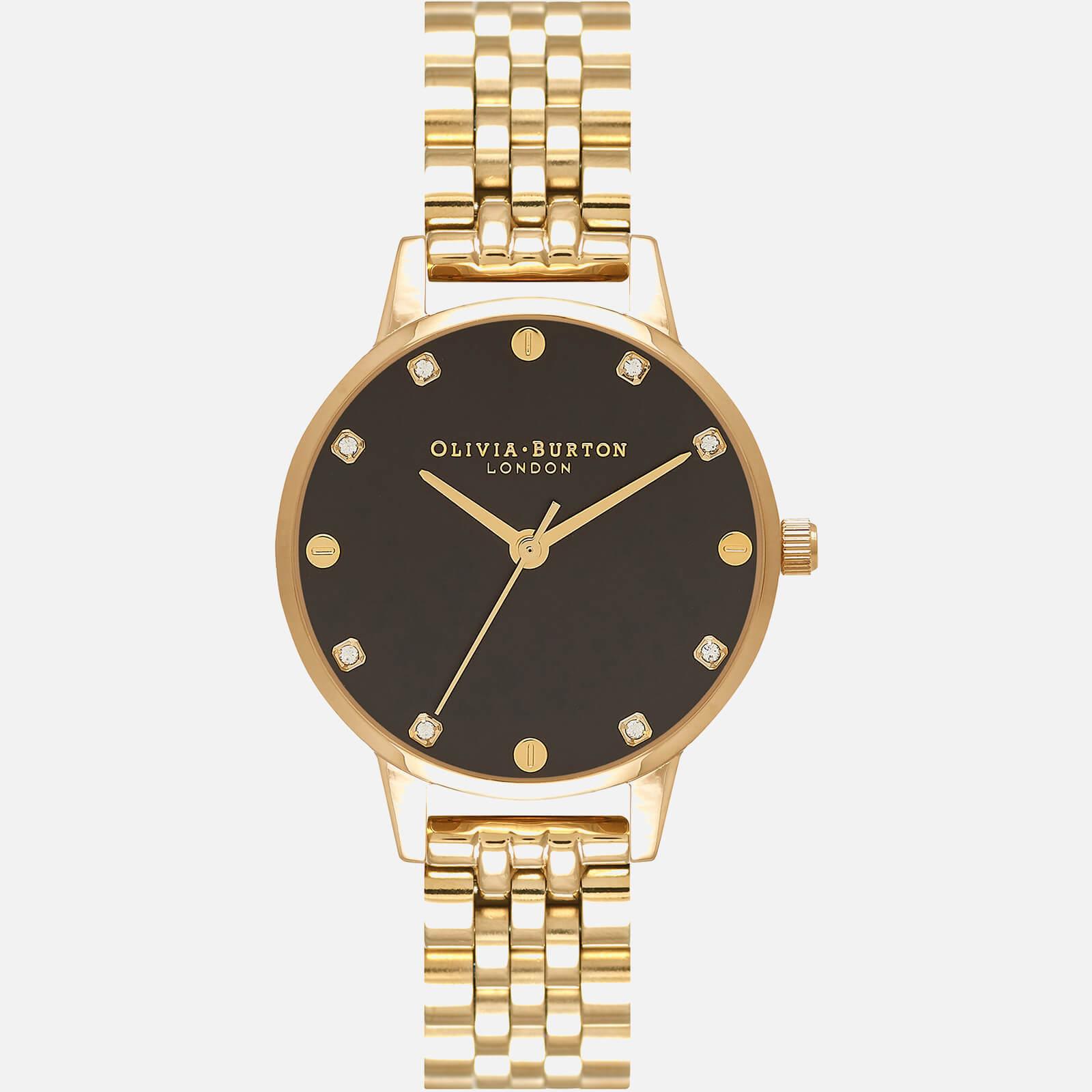 Olivia Burton Women's Classics Collection Watch - Black & Gold