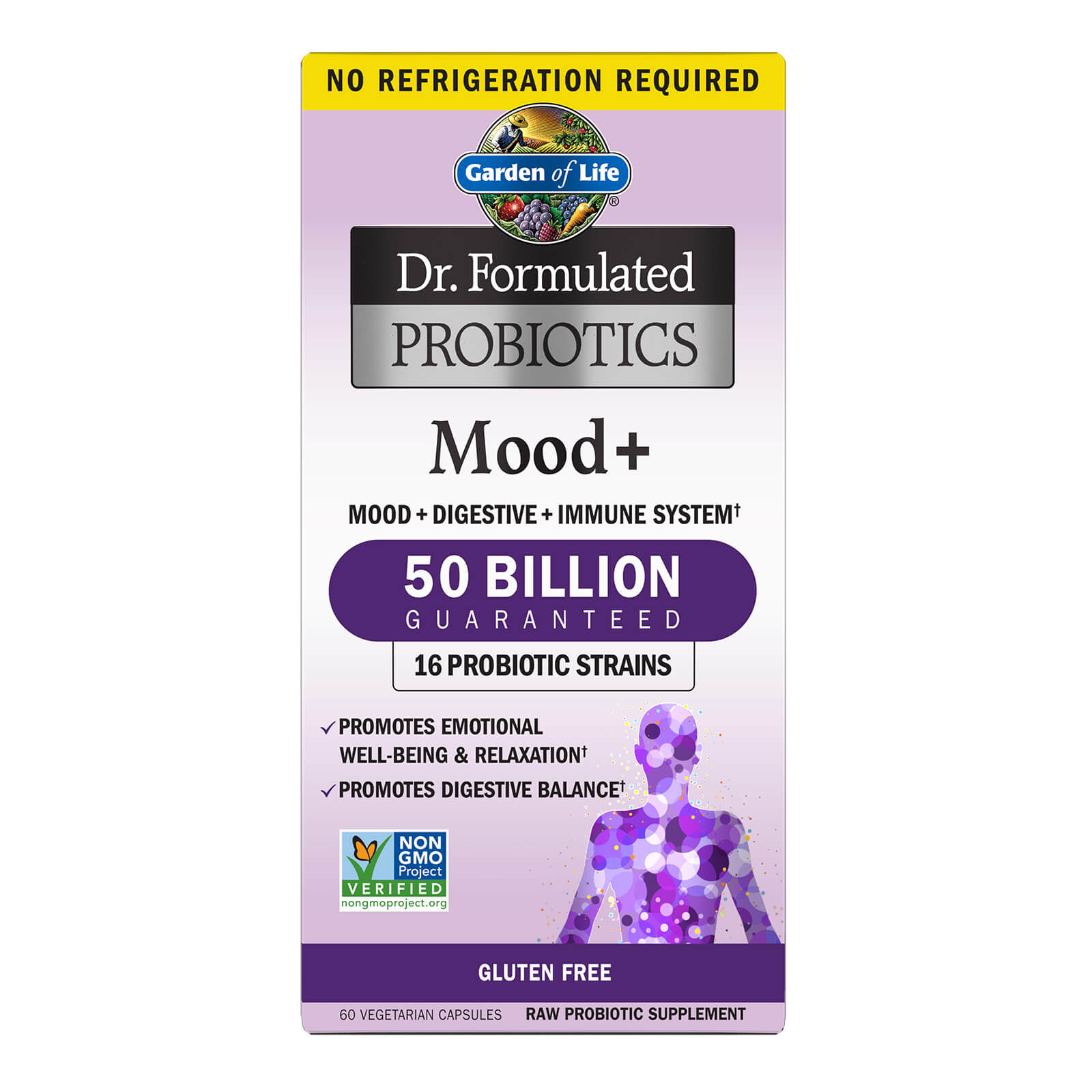 Garden of Life Microbiome Mood+ Vegetarian Capsules - 60 Capsules-Subscription - Every 3 Months