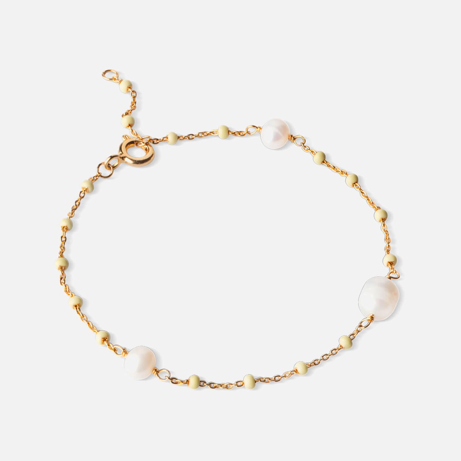 ENAMEL Copenhagen Women's Lola Perlita Bracelet - Lemone/Pearl