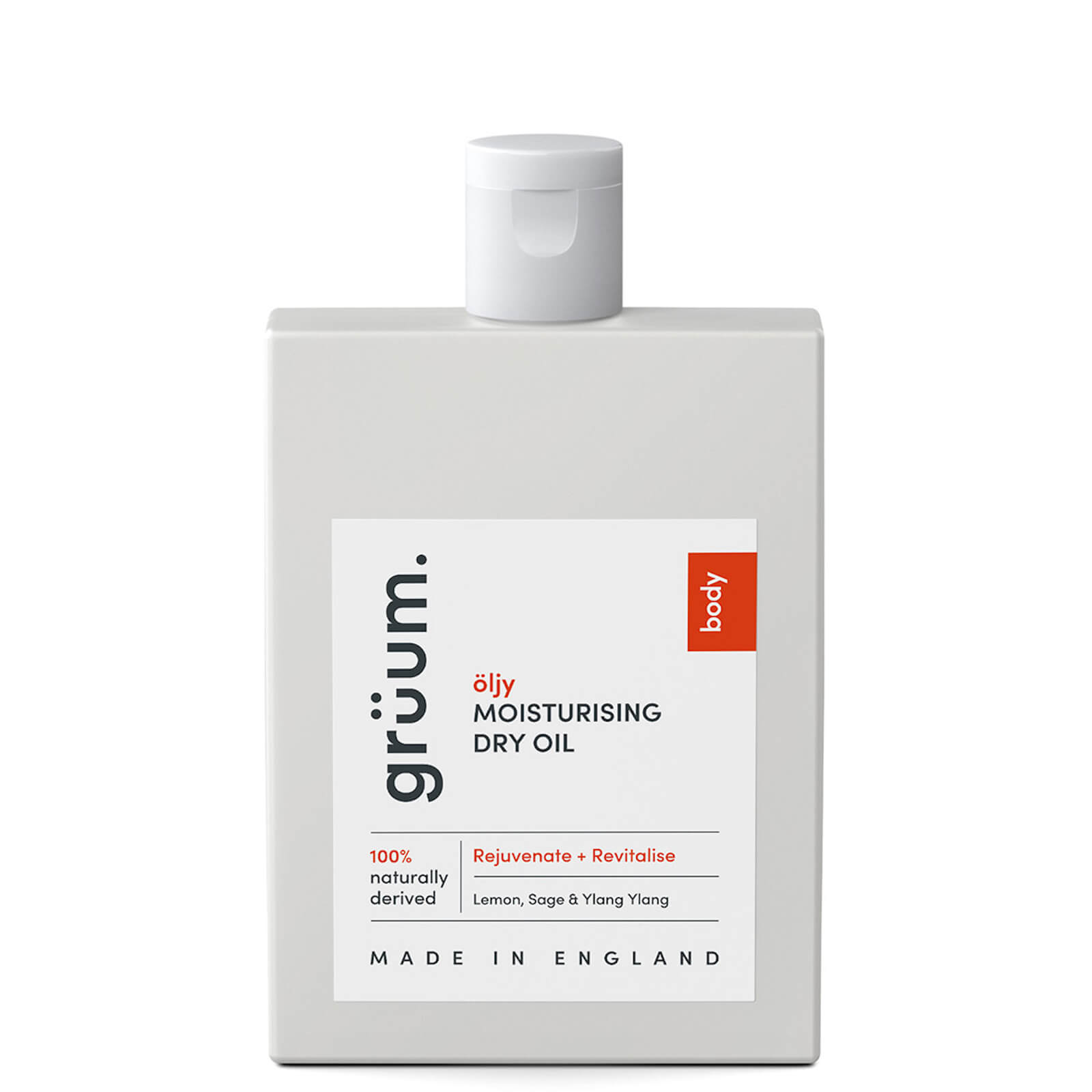 grüum Öljy Moisturising Dry Oil - Rejuvenate and Revitalise 100ml