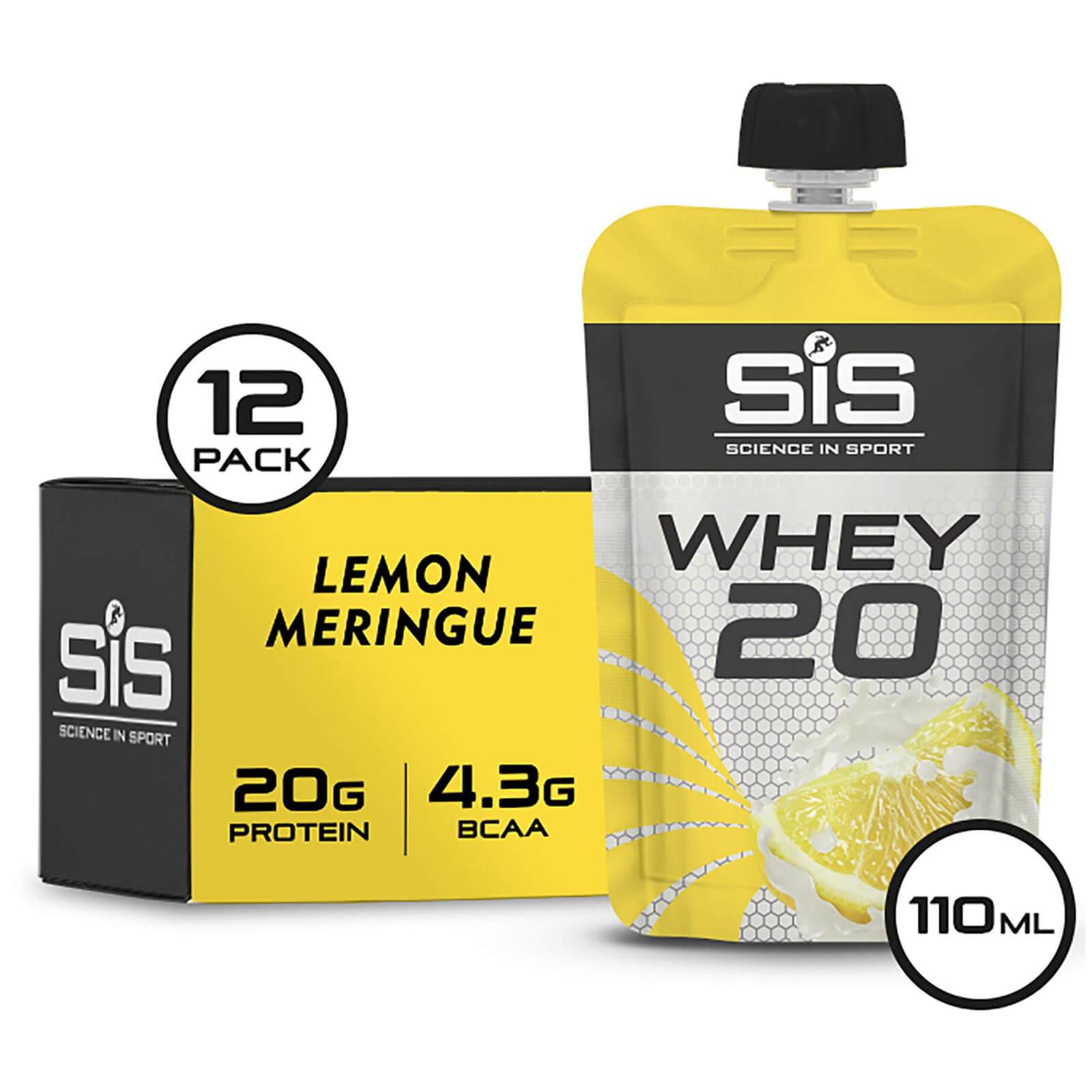 Science in Sport Whey20 Protein Supplement 110g Sachet Pack of 12 - Lemon Meringue