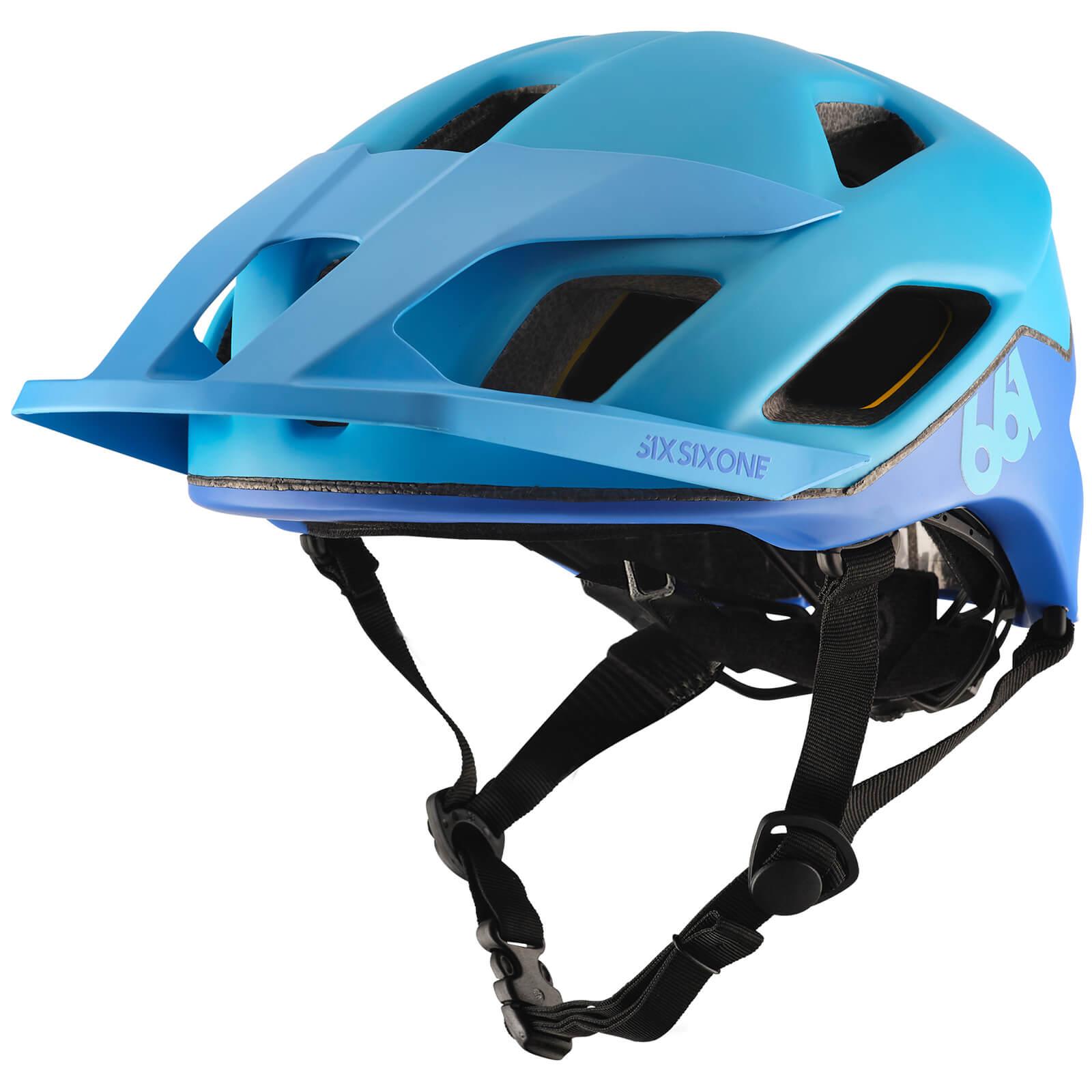 SixSixOne Crest MIPS MTB Helmet - XS/S - Blue/Blue