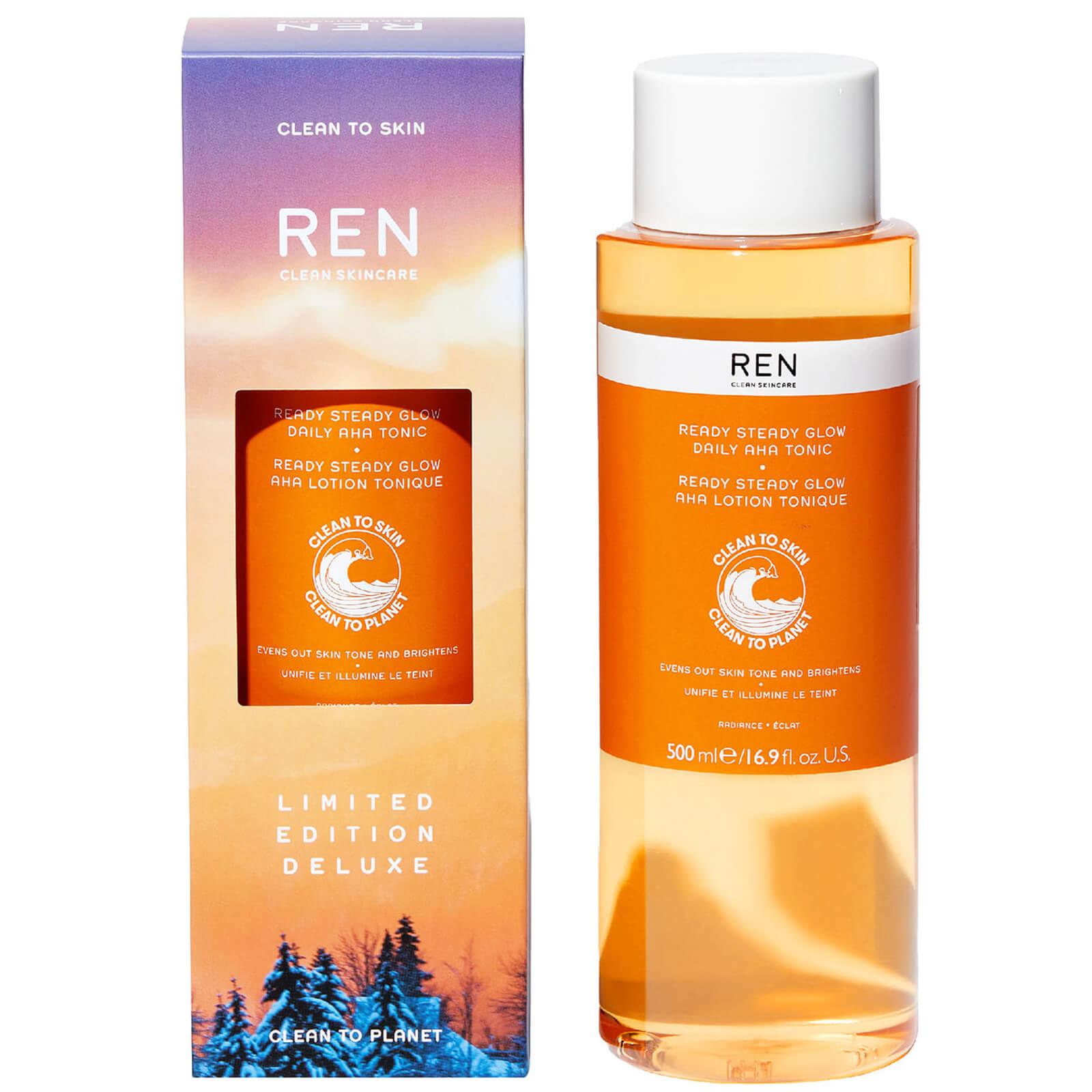 Купить REN Clean Skincare Deluxe Ready Steady Glow Daily AHA Tonic 500ml