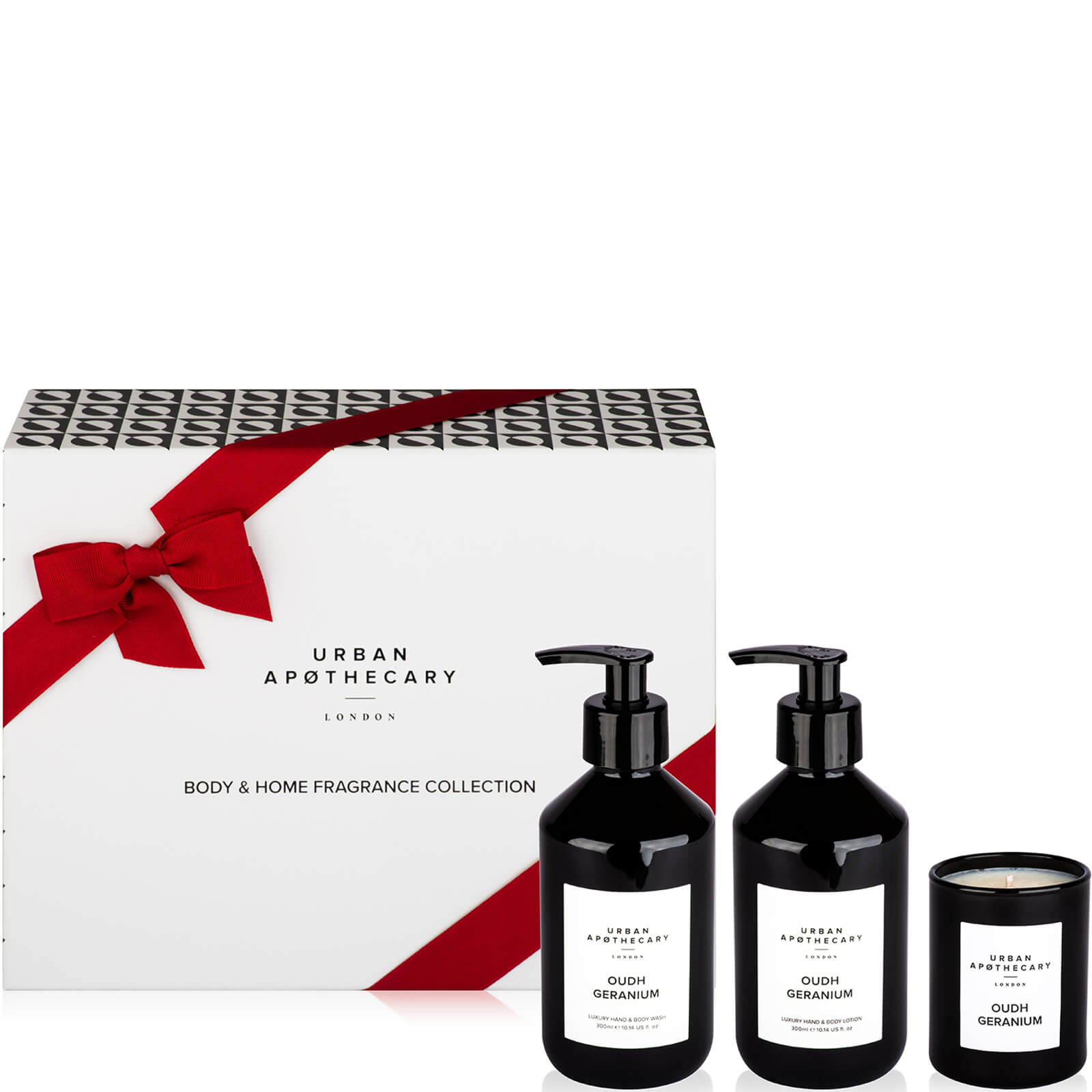 Купить Urban Apothecary Oudh Geranium Body + Home Collection - 300ml Wash, Lotion and 70g Candle