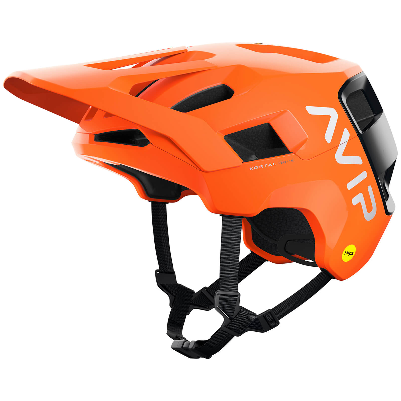 POC Kortal Race MIPS MTB Helmet - XS-S/51cm-54cm - Fluorescent Orange AVIP/Uranium Black Matt