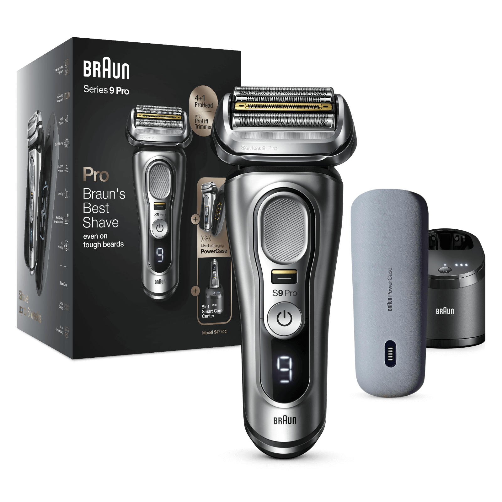 Series 9 Pro Shaver with Cleaning Centre and Power Case
