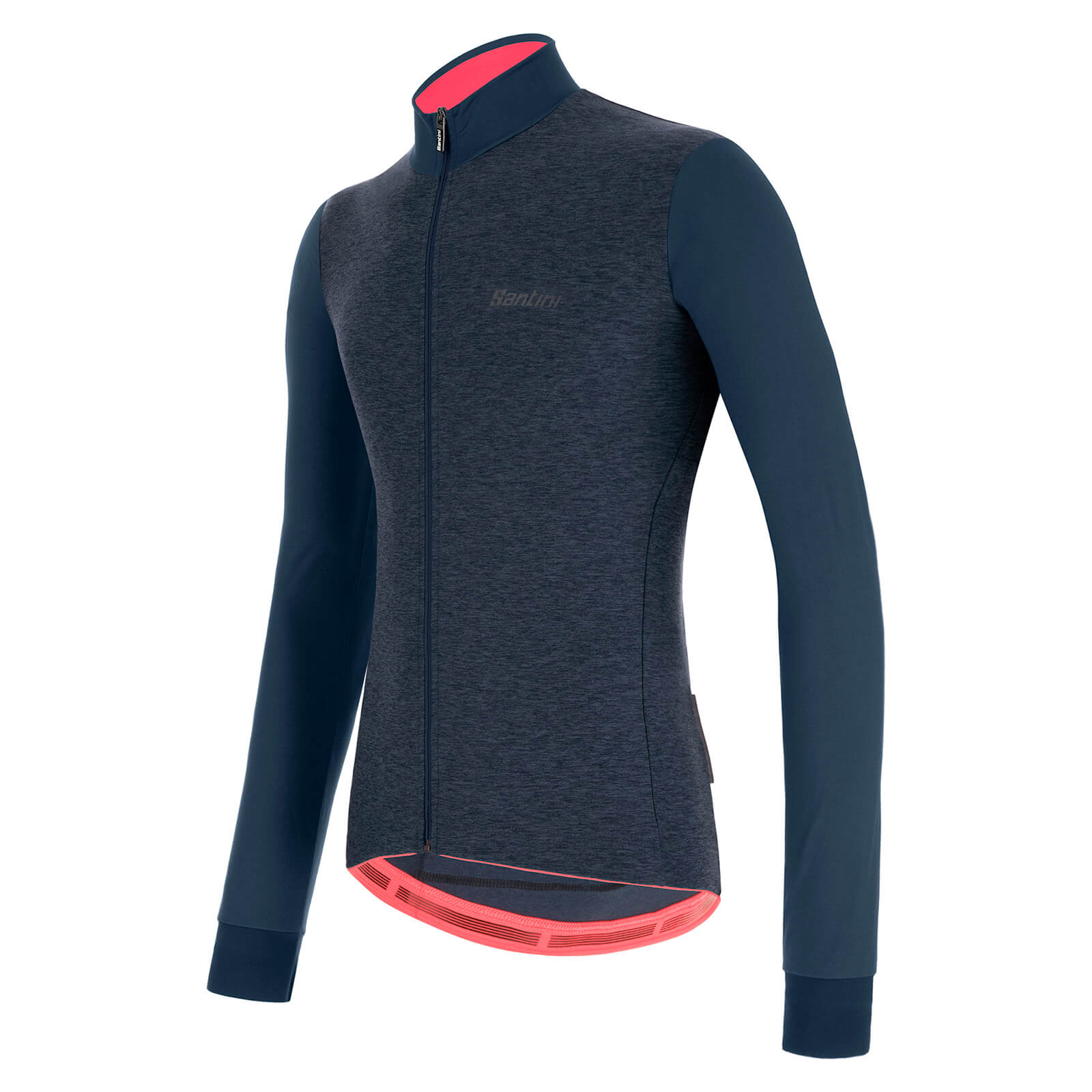 Santini Colore Puro Long Sleve Jersey - XL - Nautica Blue