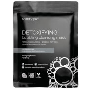 BeautyPro Detoxifying Foaming Cleansing Sheet Mask with Activated Charcoal